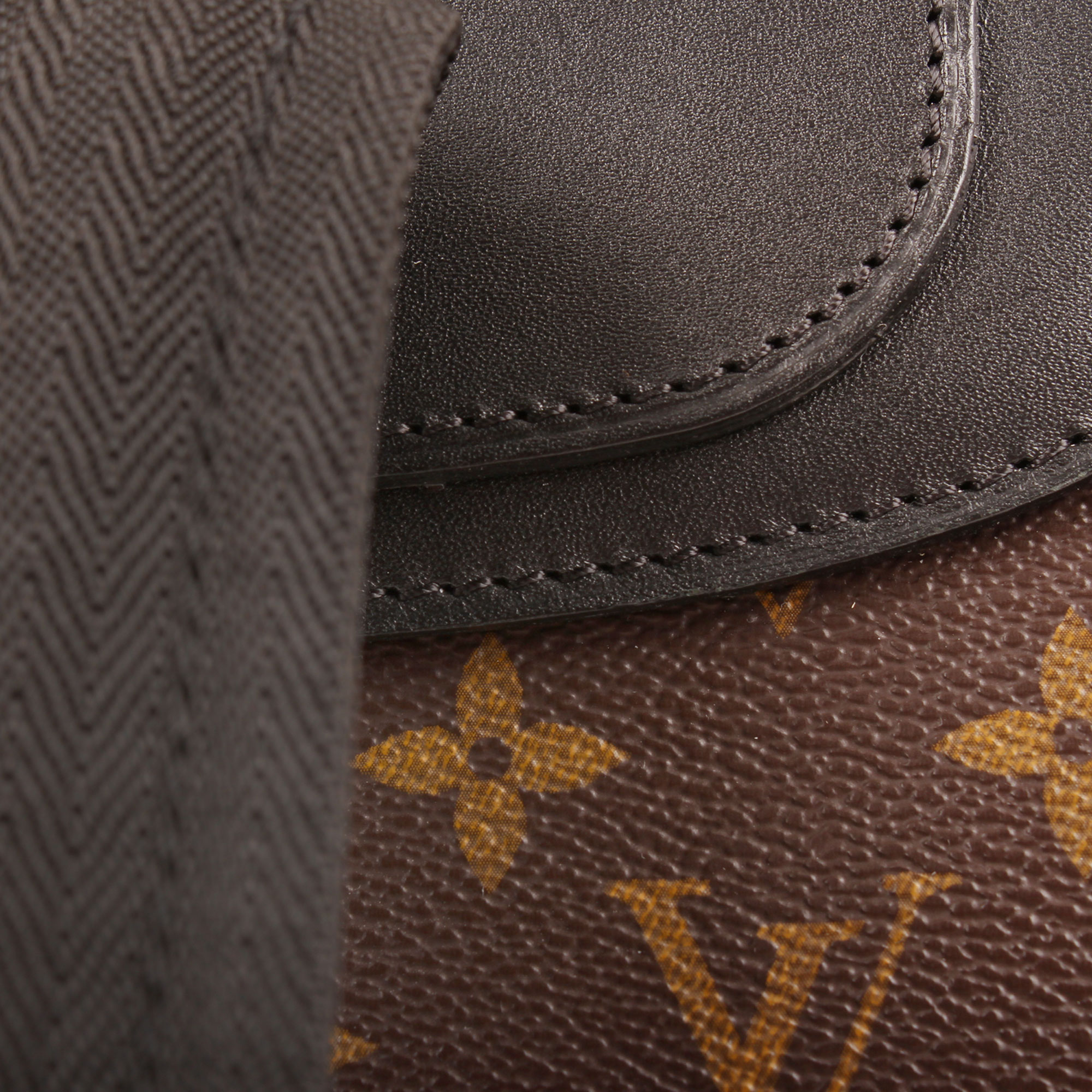 Leather image of louis vuitton palk monogram macassar backpack