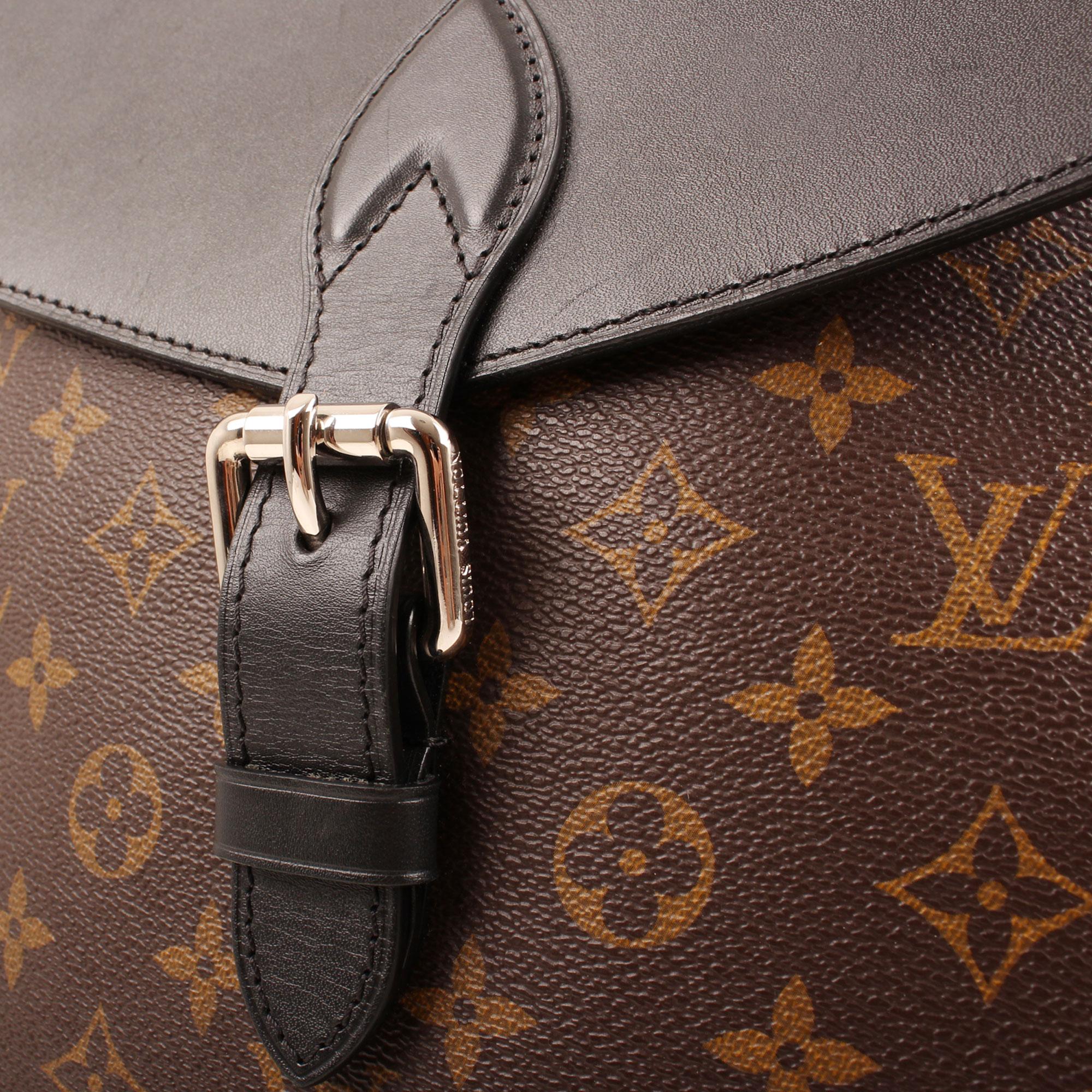 Detail image of louis vuitton palk monogram macassar backpack