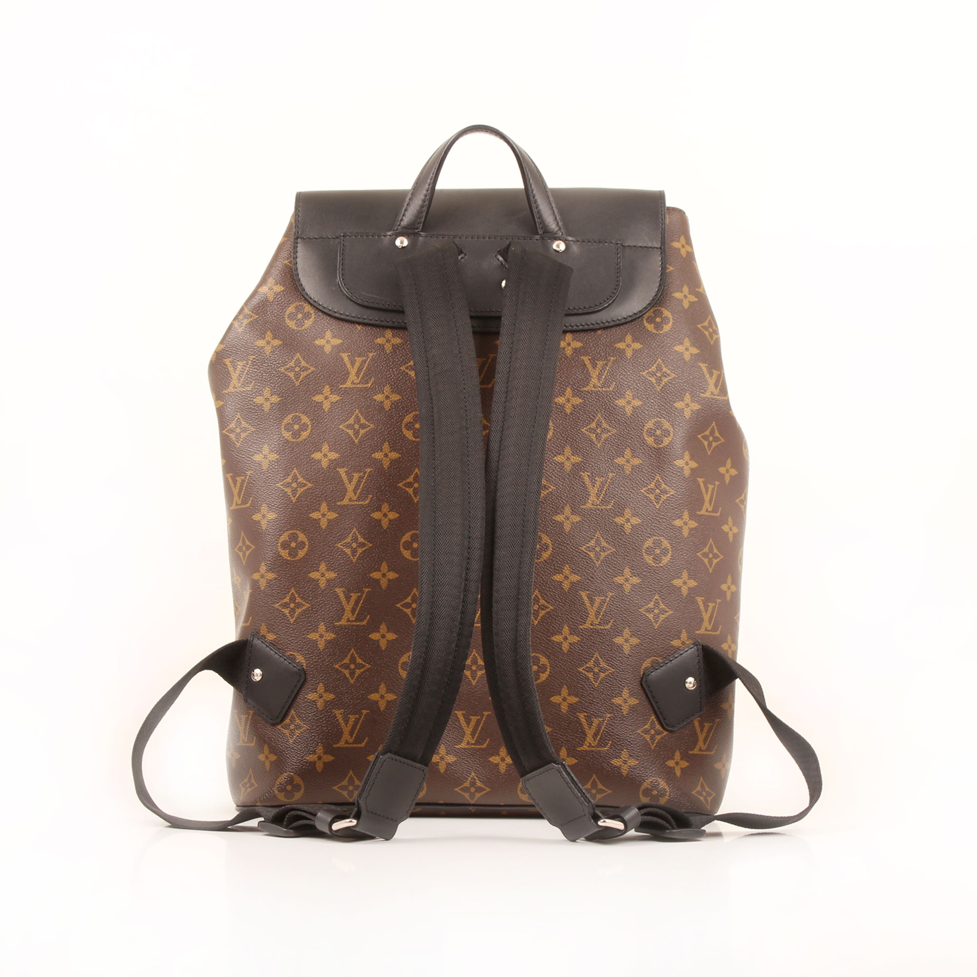 Imagen trasera de la mochila louis vuitton palk monogram macassar