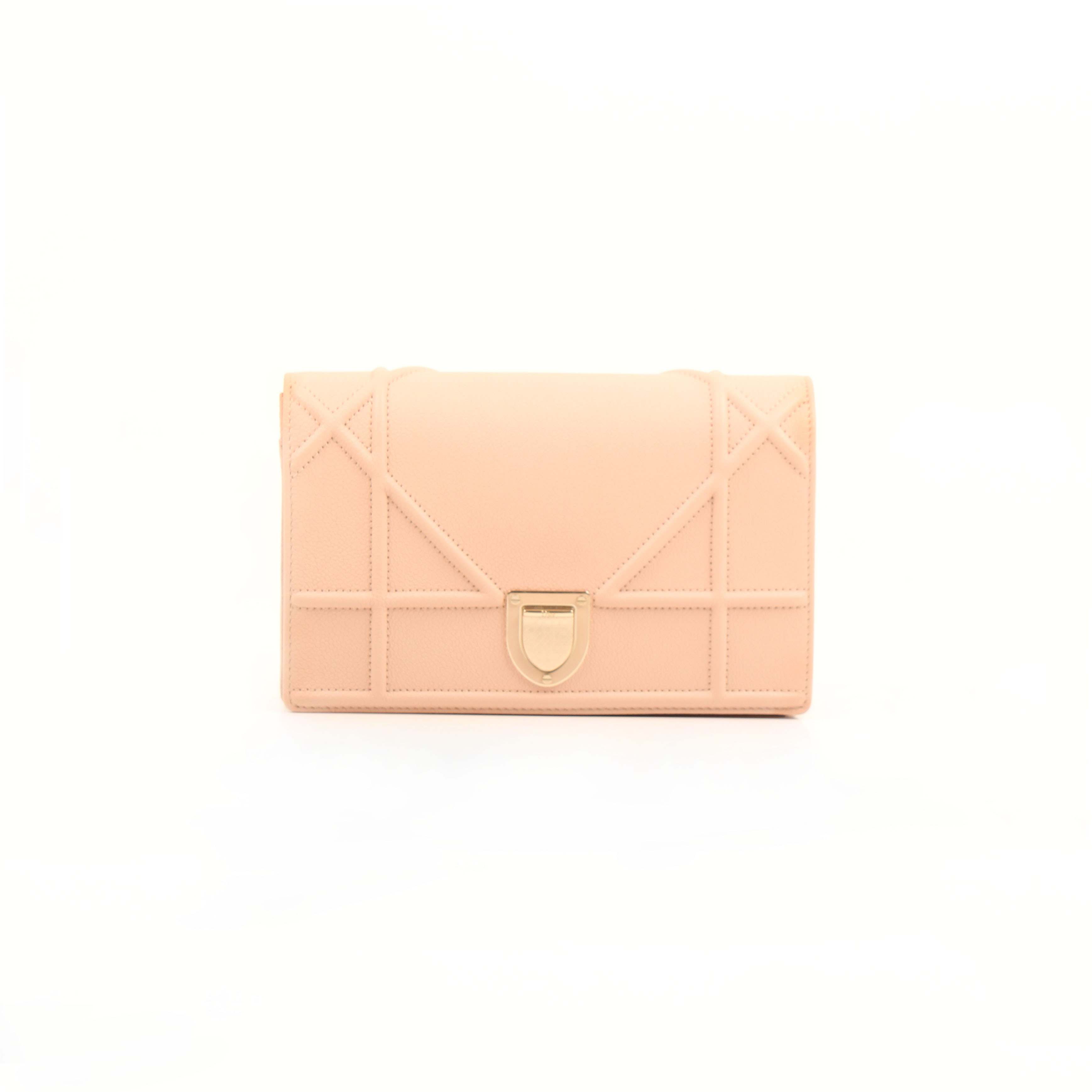 wallet on chain dior diorama pouch rosa nude frontal