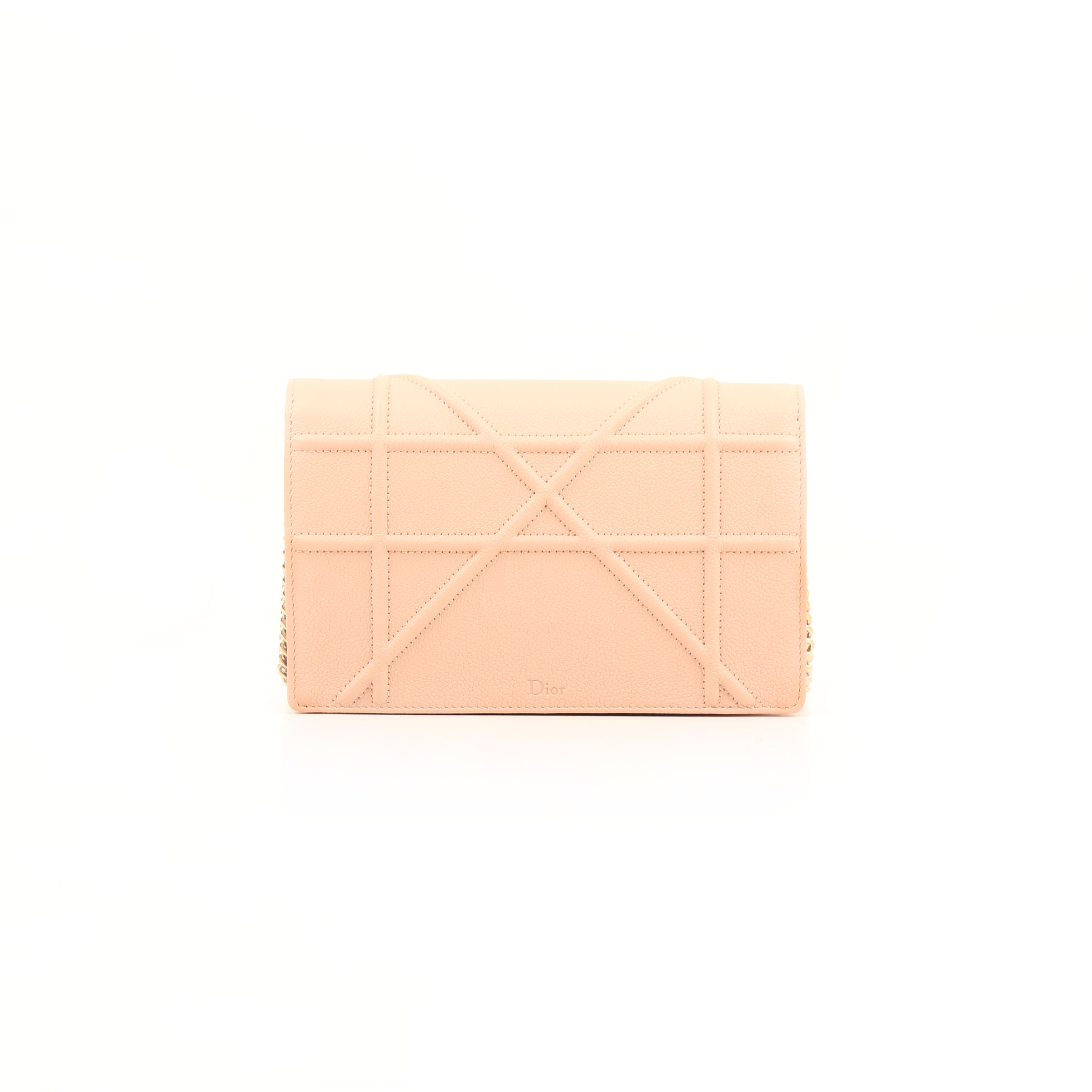 wallet on chain dior diorama pouch rosa nude trasera