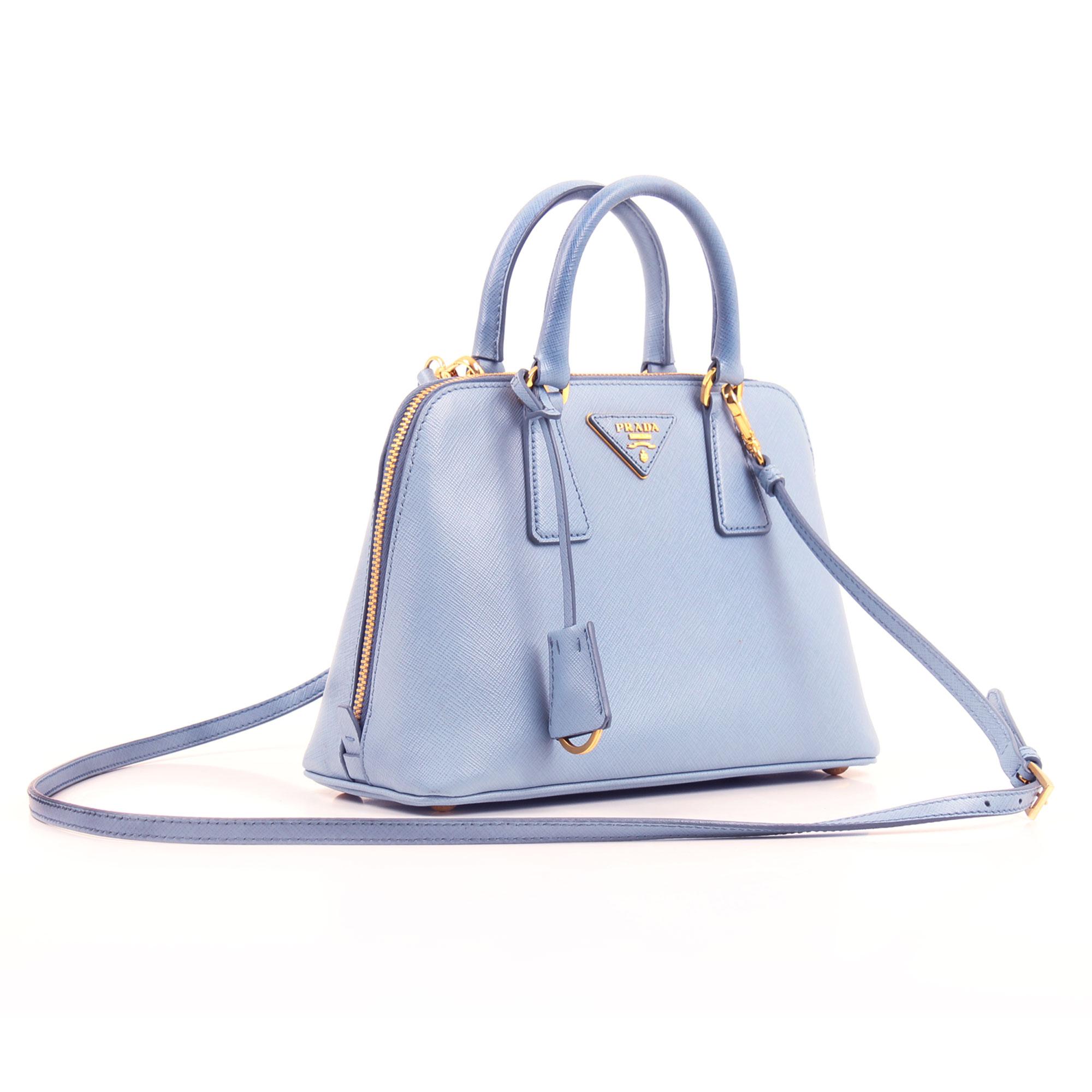 096de1da18fd01 Prada Saffiano Promenade Lavender Blue Crossbody Bag | CBL Bags