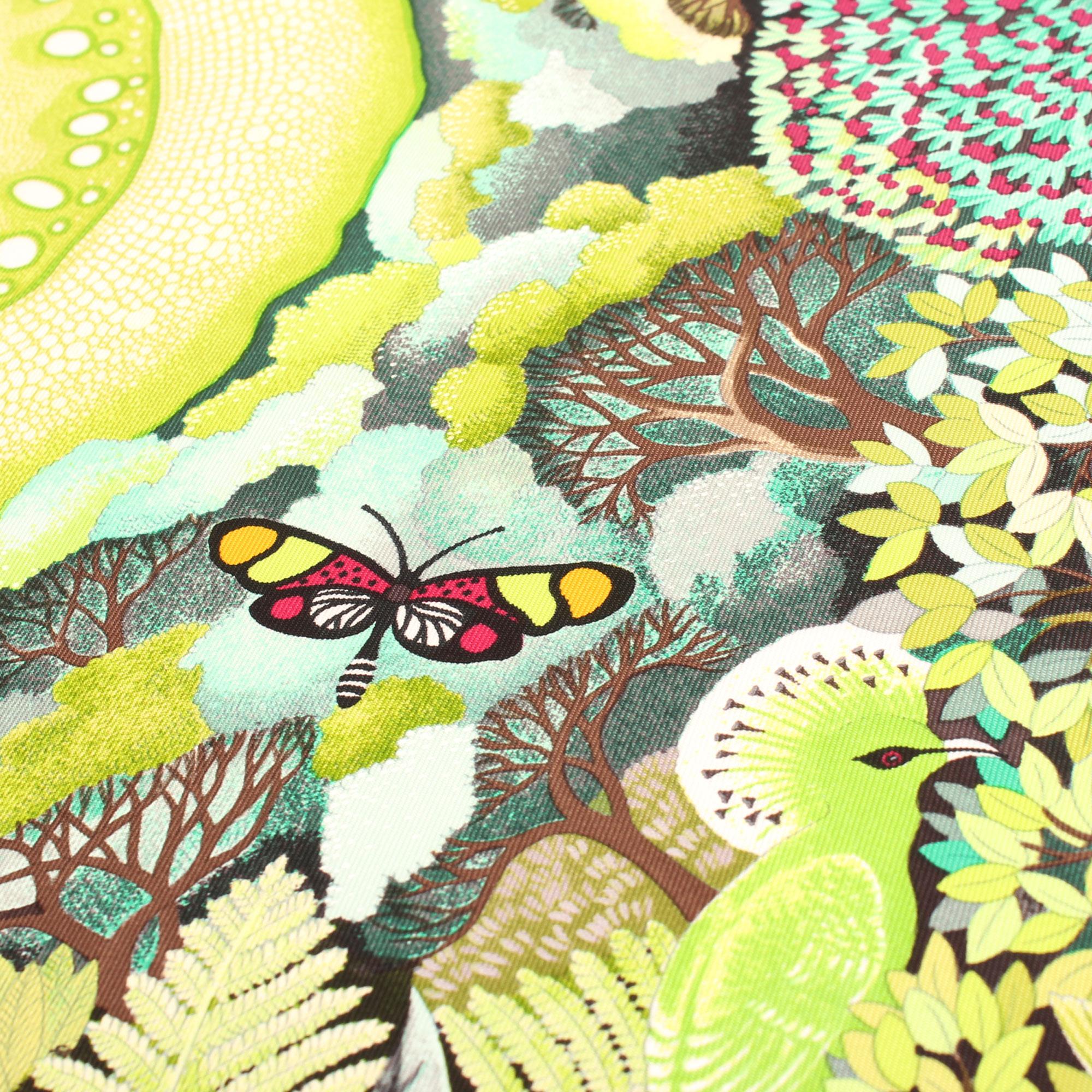 Imagen de la ilustración de la mariposa del hermes carre au coeur de la vie