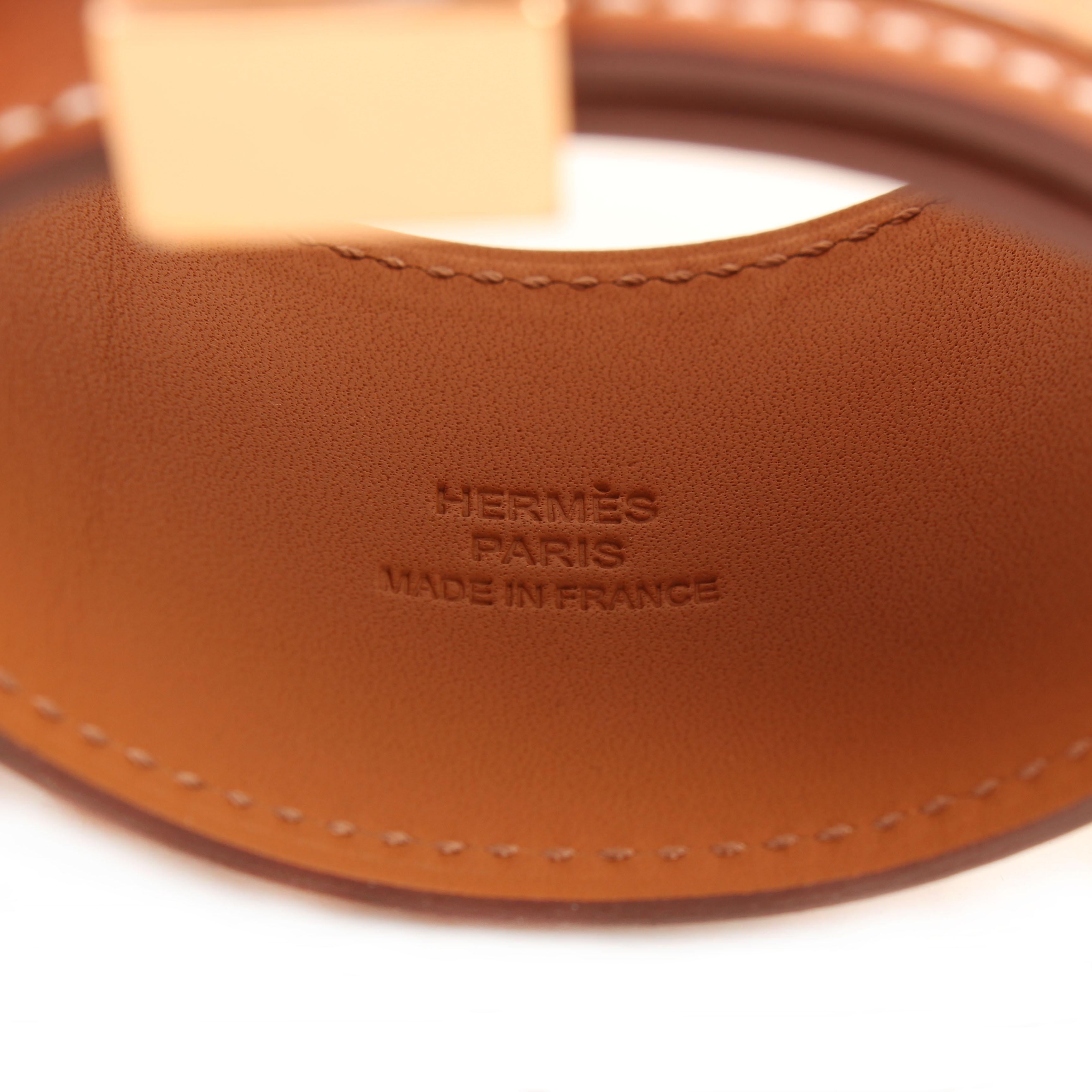 pulsera hermes collier de chien box calf gold marca