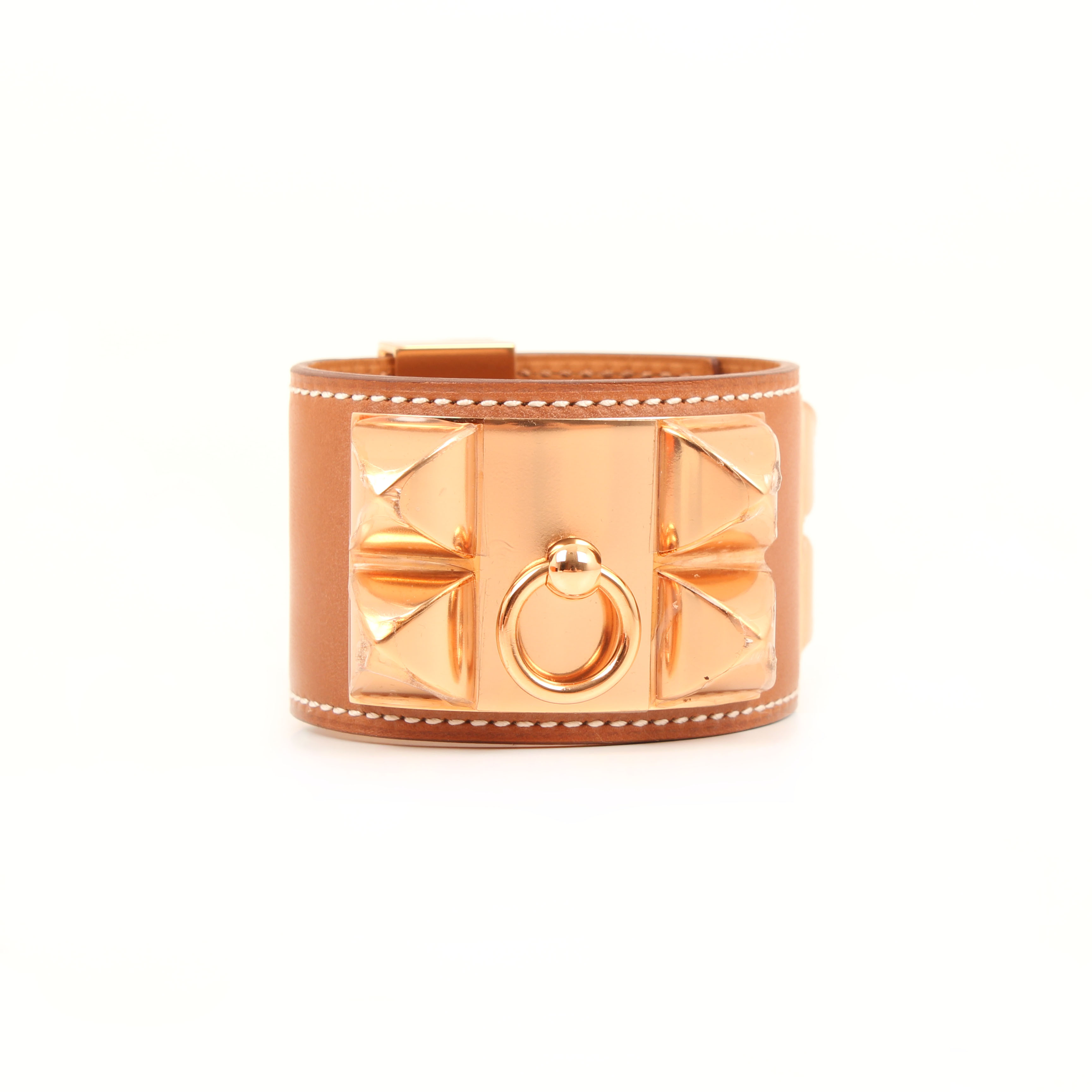 pulsera hermes collier de chien box calf gold tachuelas