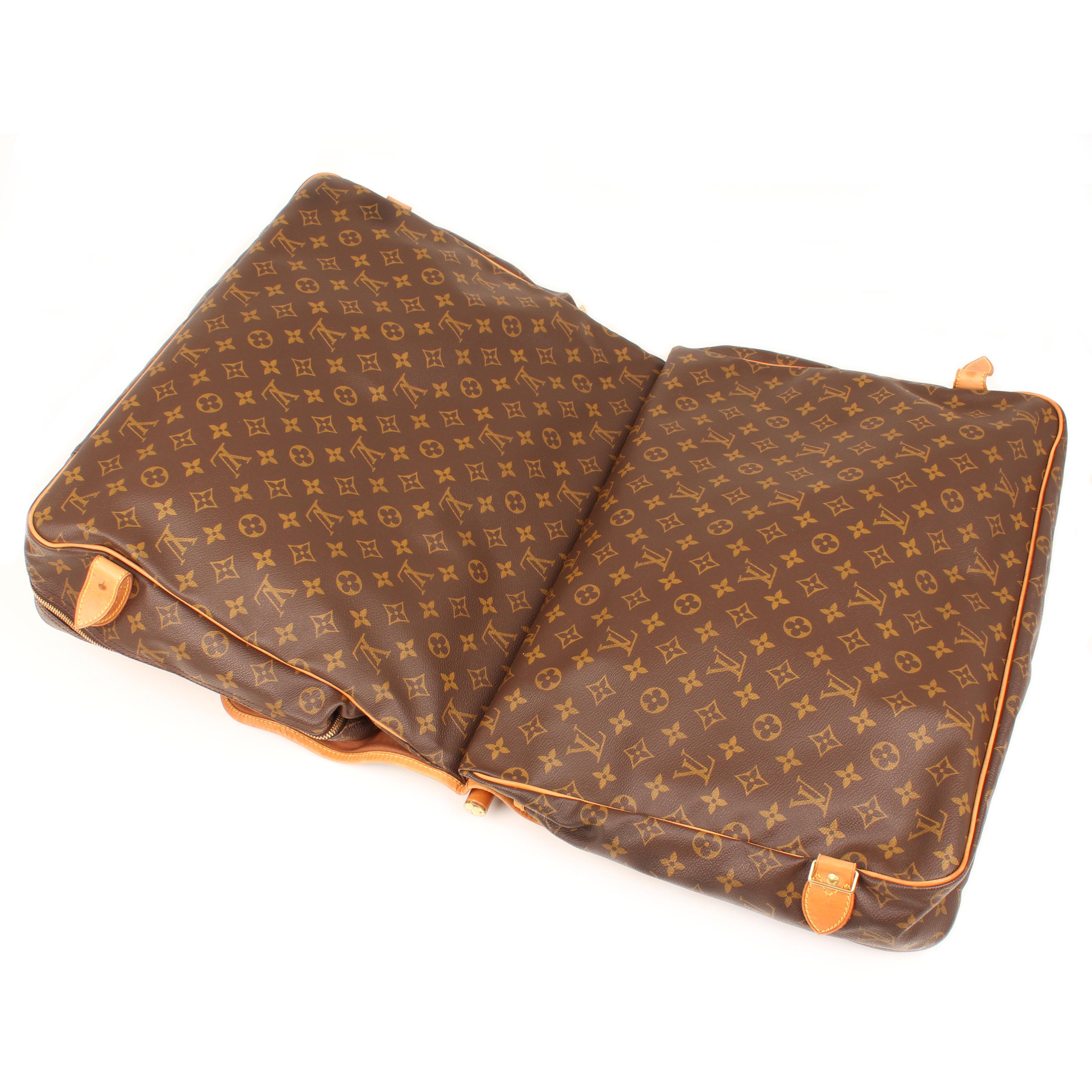 bolsa de viaje louis vuitton sac chasse monogram abierta