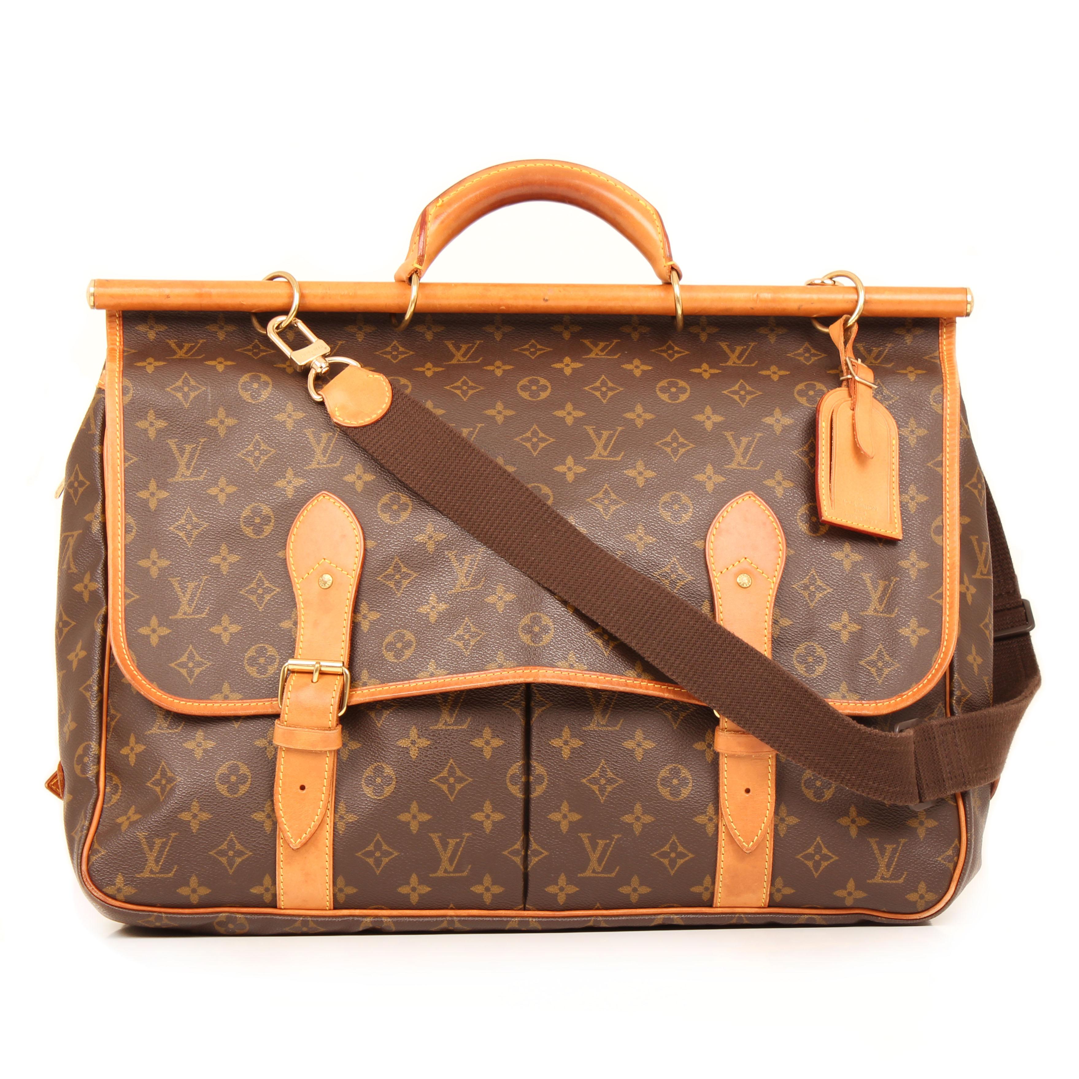 bolsa de viaje louis vuitton sac chasse monogram trasera