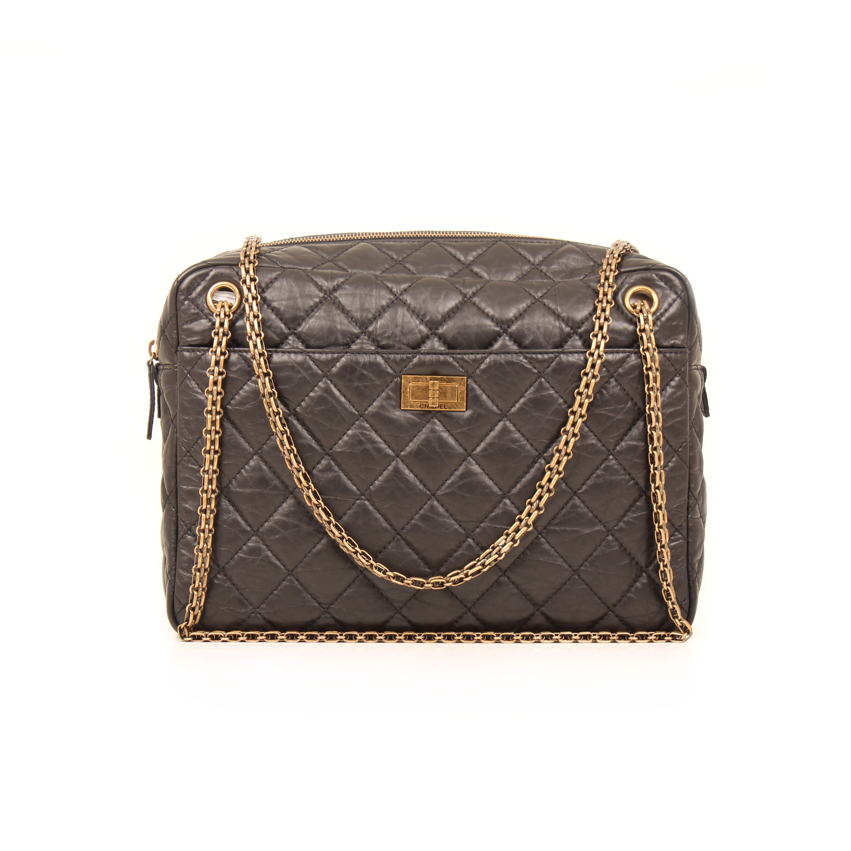 75e1b46bc864 chanel camera bag jumbo reissue aged leather black general. Imagen ...
