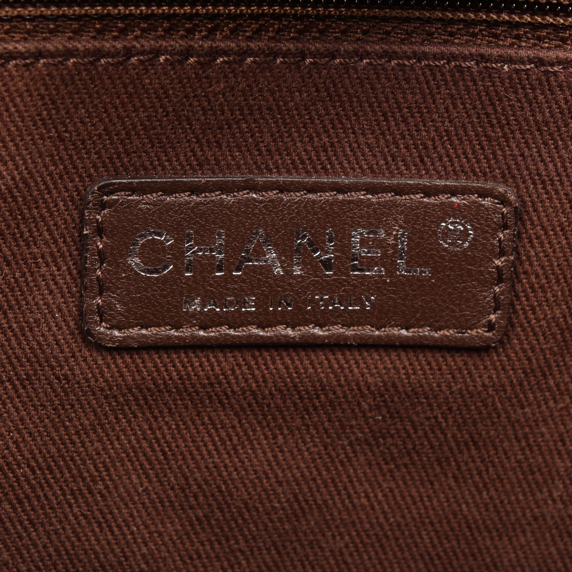 Imagen de la etiqueta del bolso chanel ecru deauville tote