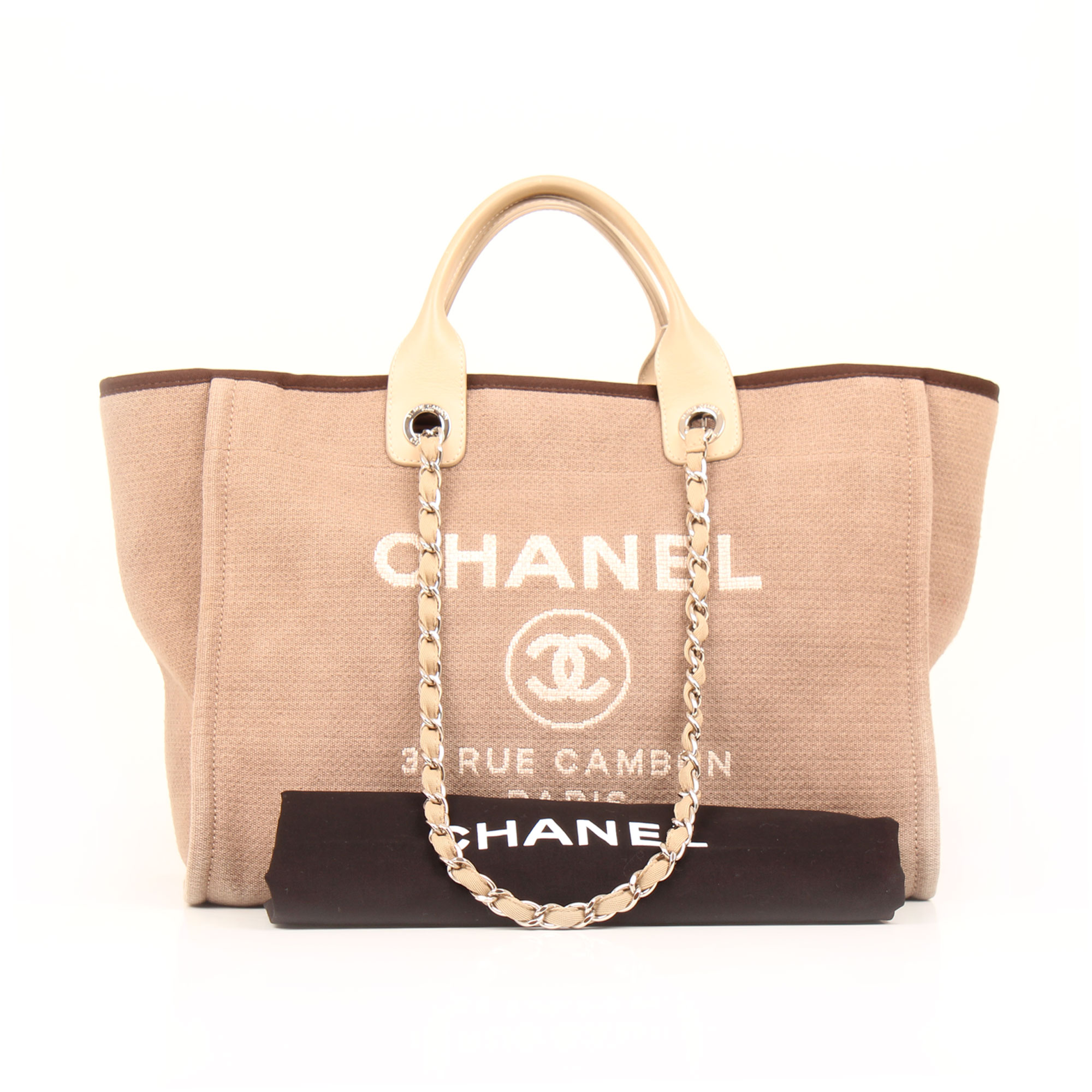 Dustbag image of chanel ecru deauville tote bag