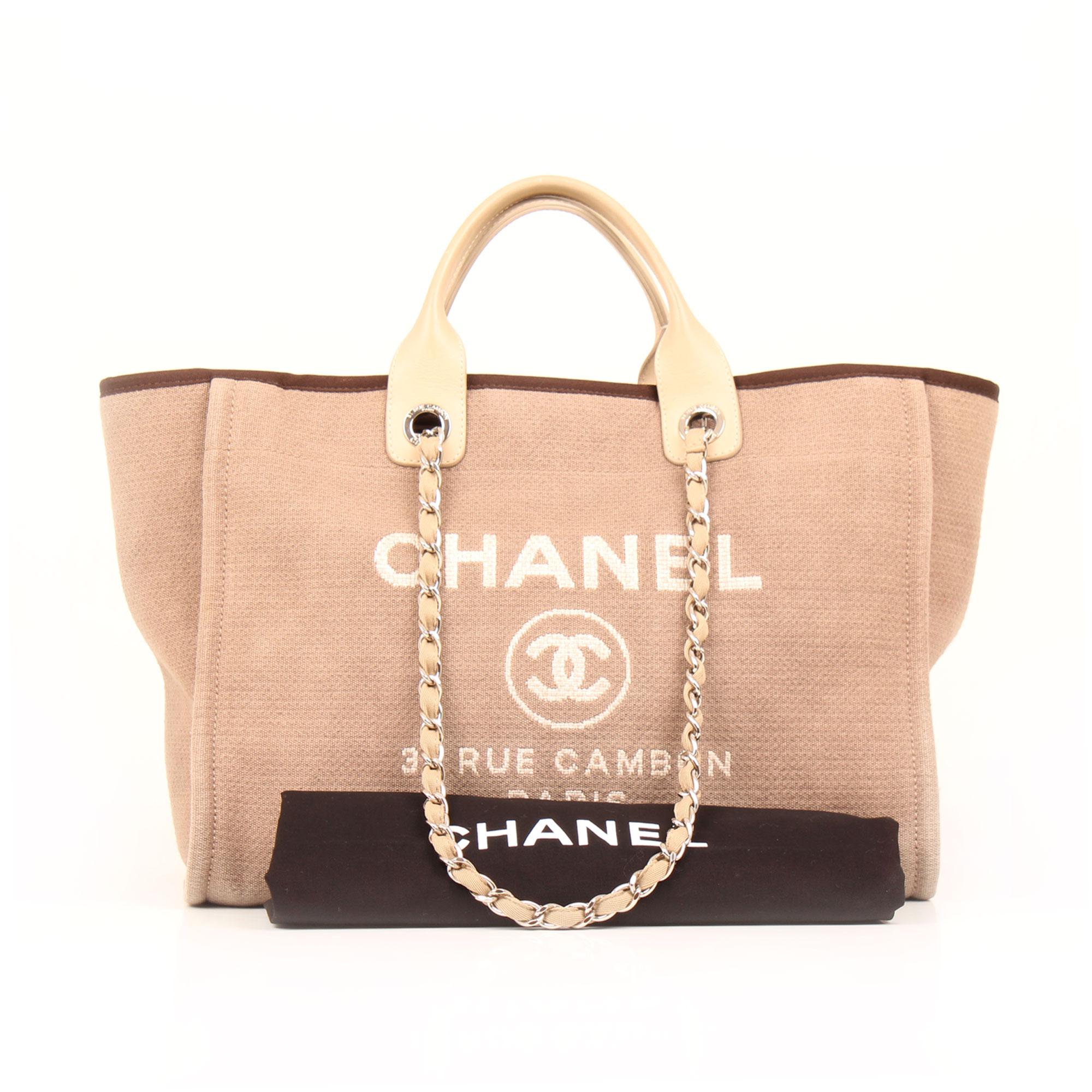 Imagen del dustbag del bolso chanel ecru deauville tote