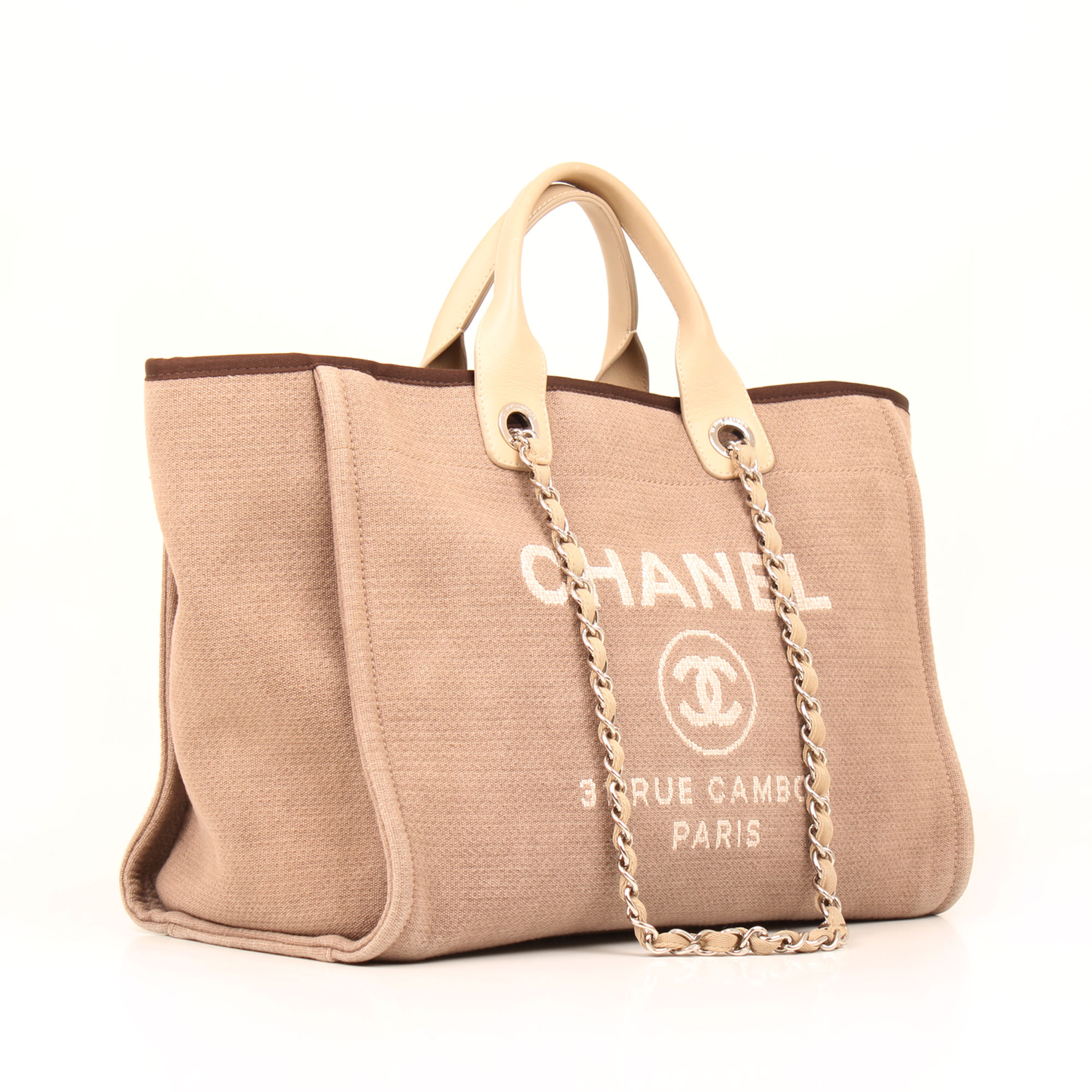 General image of chanel ecru deauville tote bag