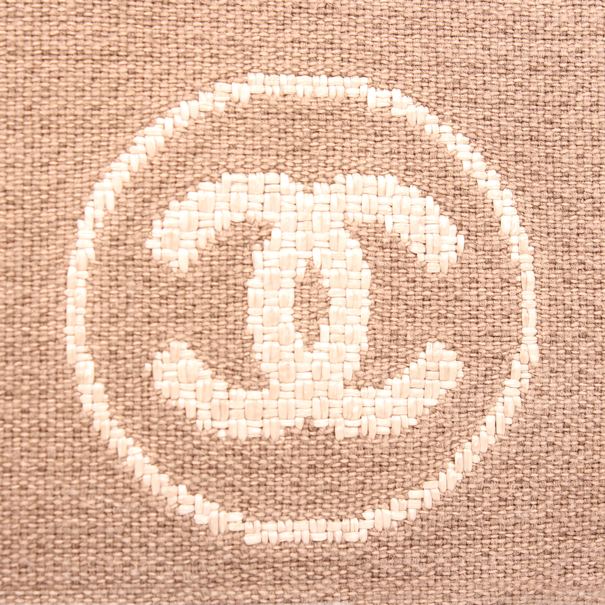 Logo image of chanel ecru deauville tote bag