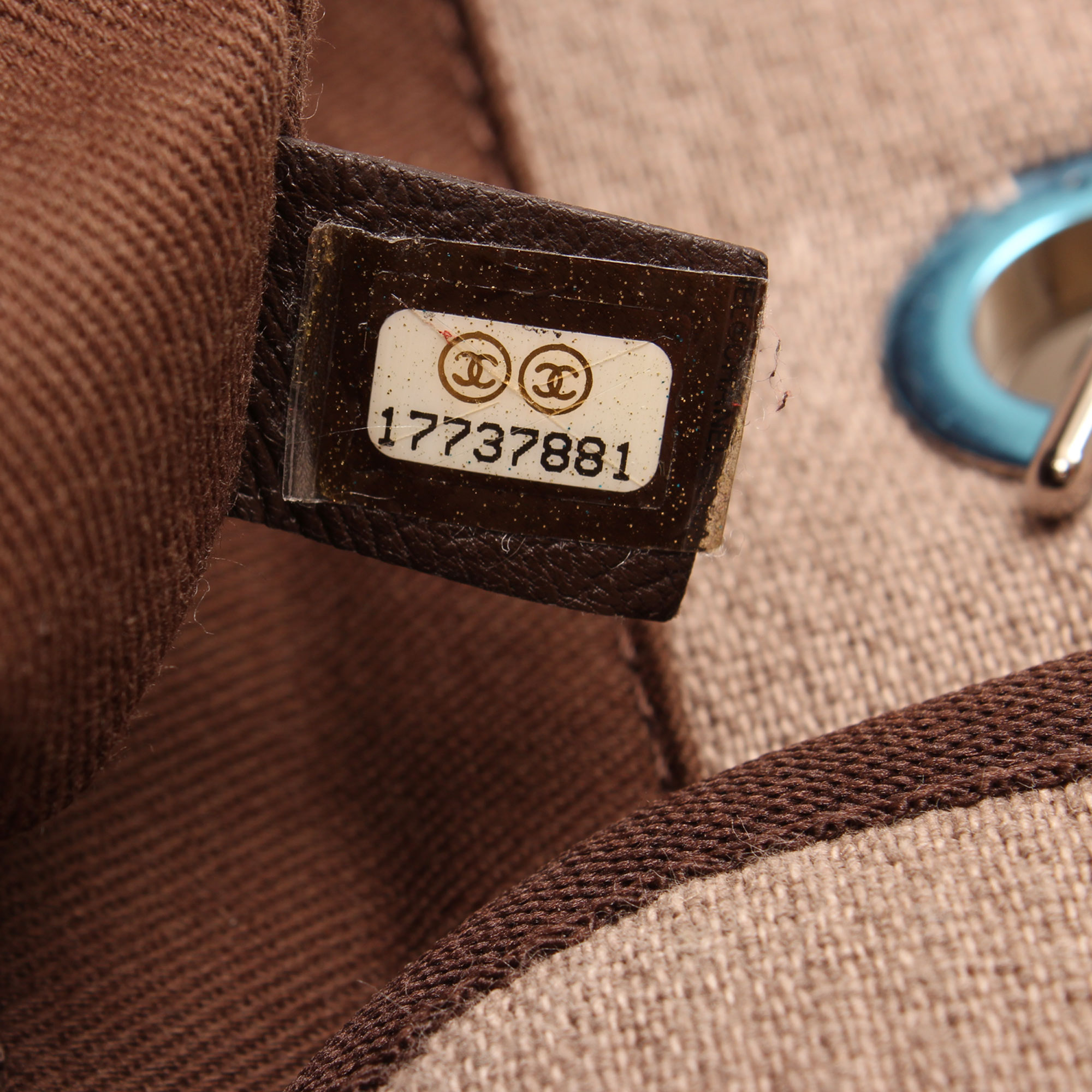 Serial number image of chanel ecru deauville tote bag