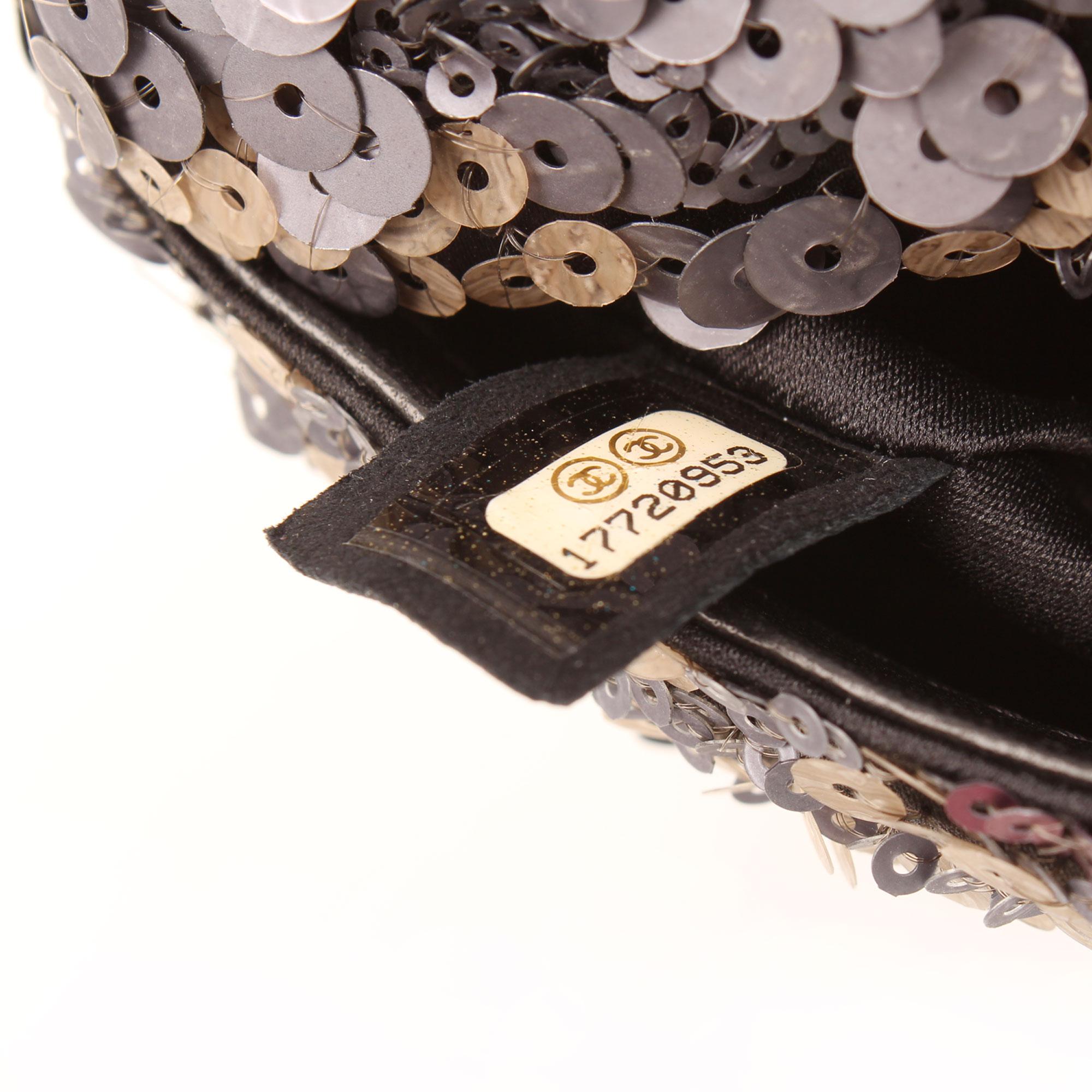 Imagen del serial del bolso chanel mini classic flap lentejuelas multicolor
