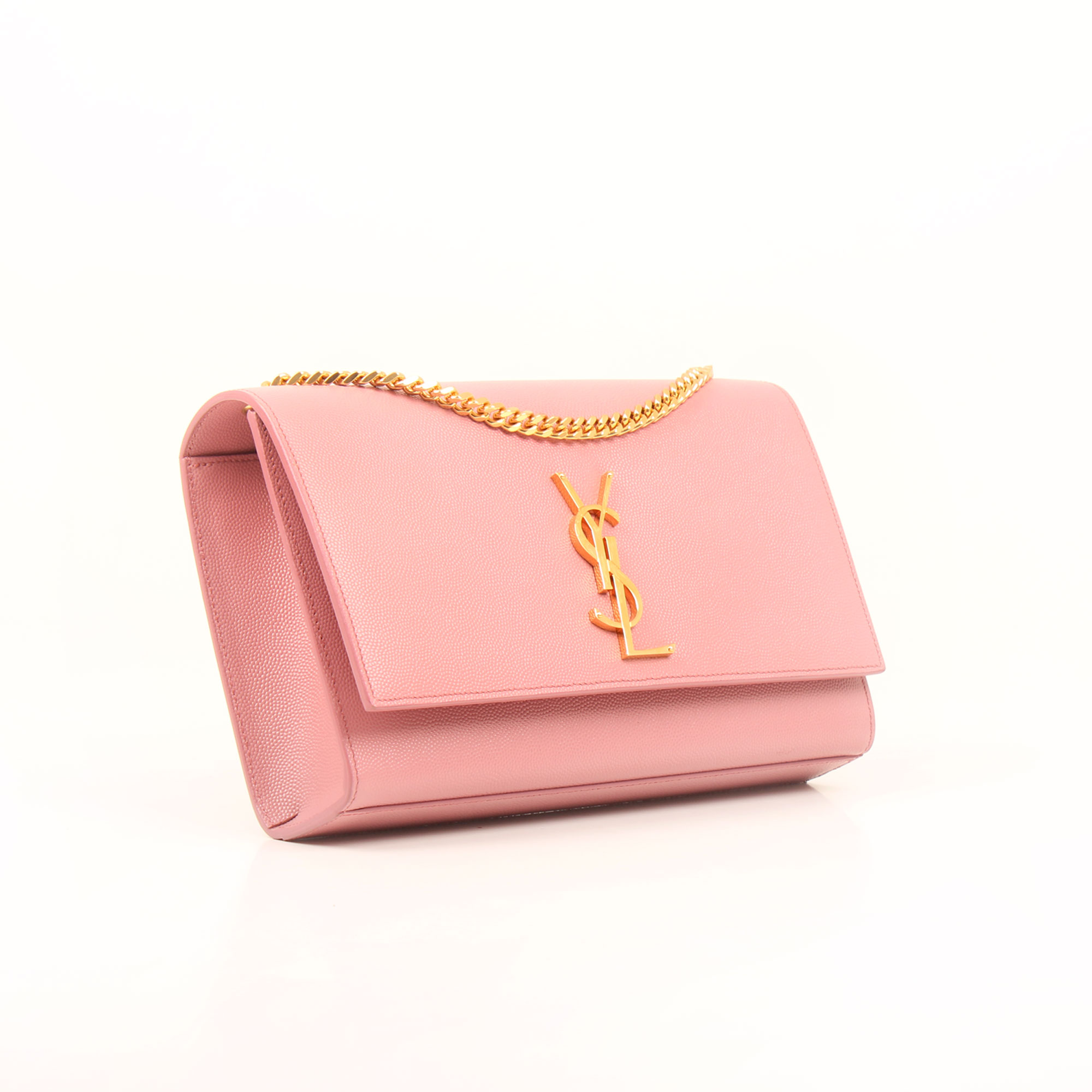 Imagen general del bolso ysl monogram medium rosa fleur