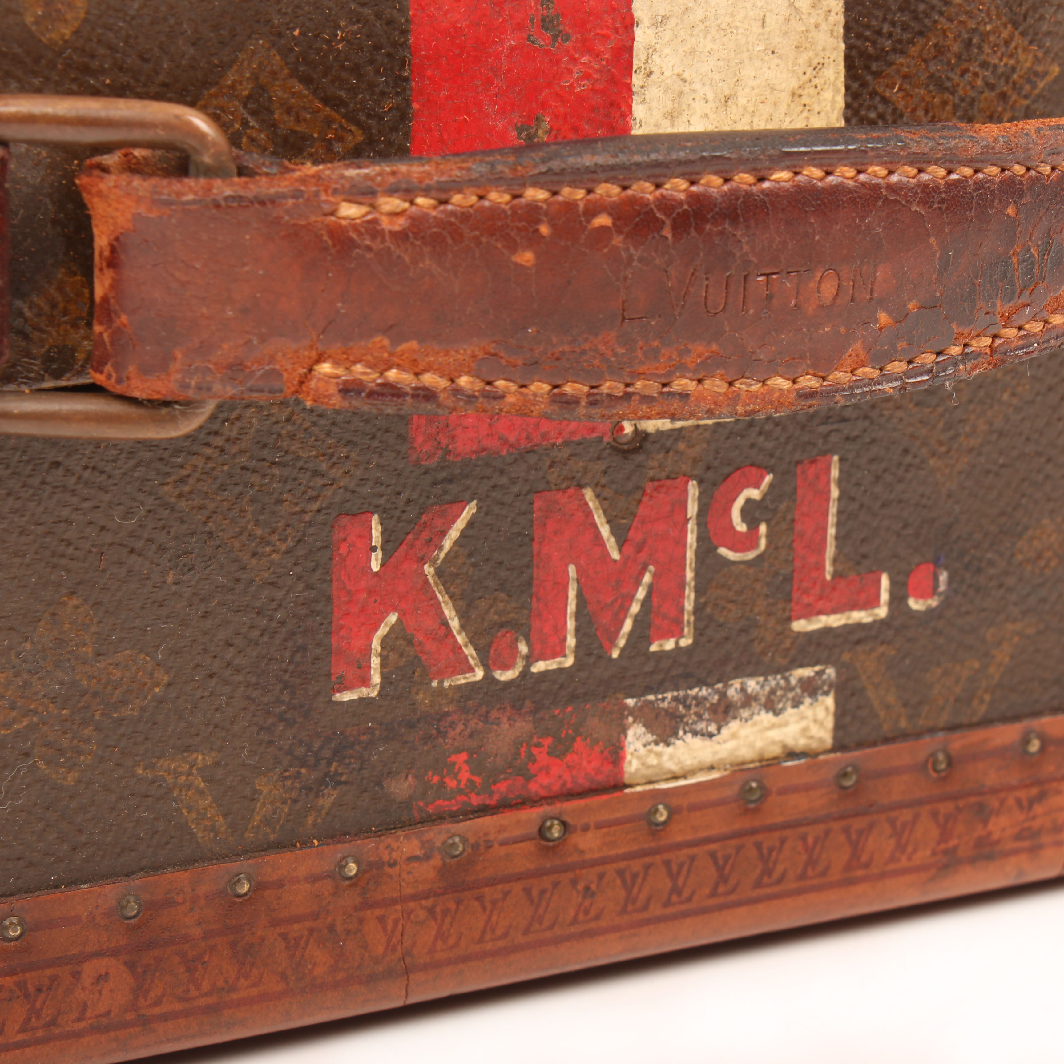 louis vuitton baul para zapatos 8 pares monogram vintage asa iniciales