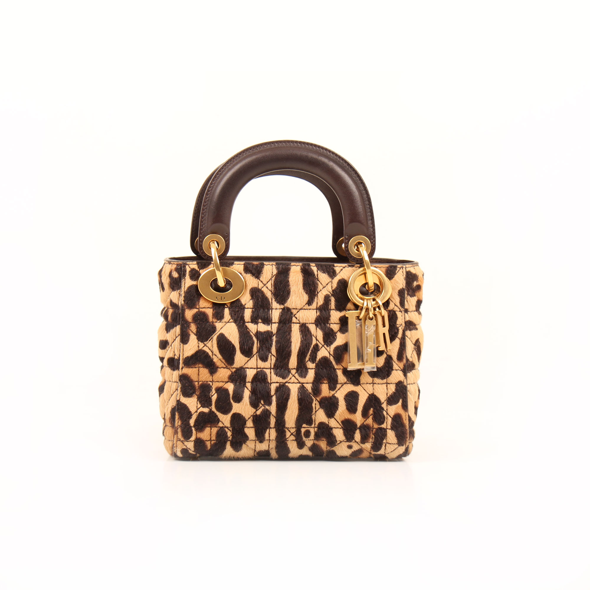 Imagen frontal del bolso dior lady dior mini animal print pony calfskin