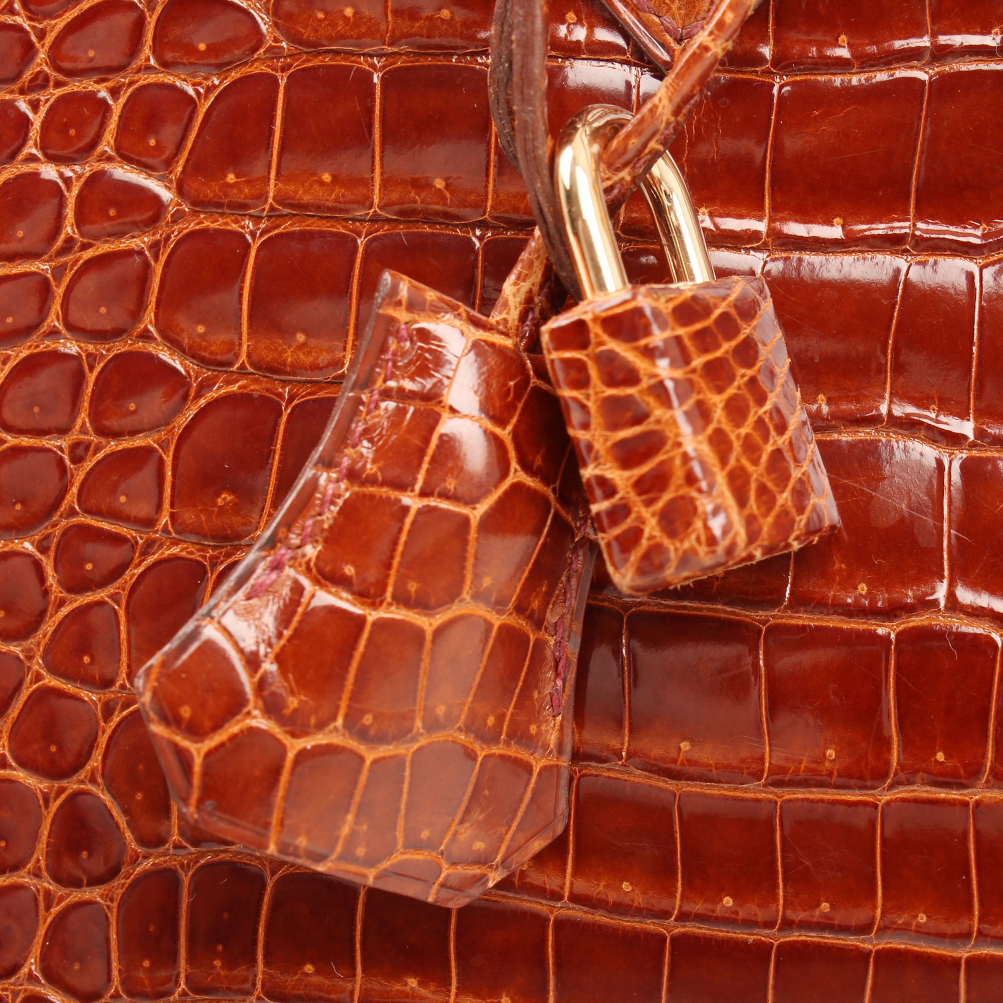 Accessories detail image of hermes birkin 25 poroso soft whisky bag