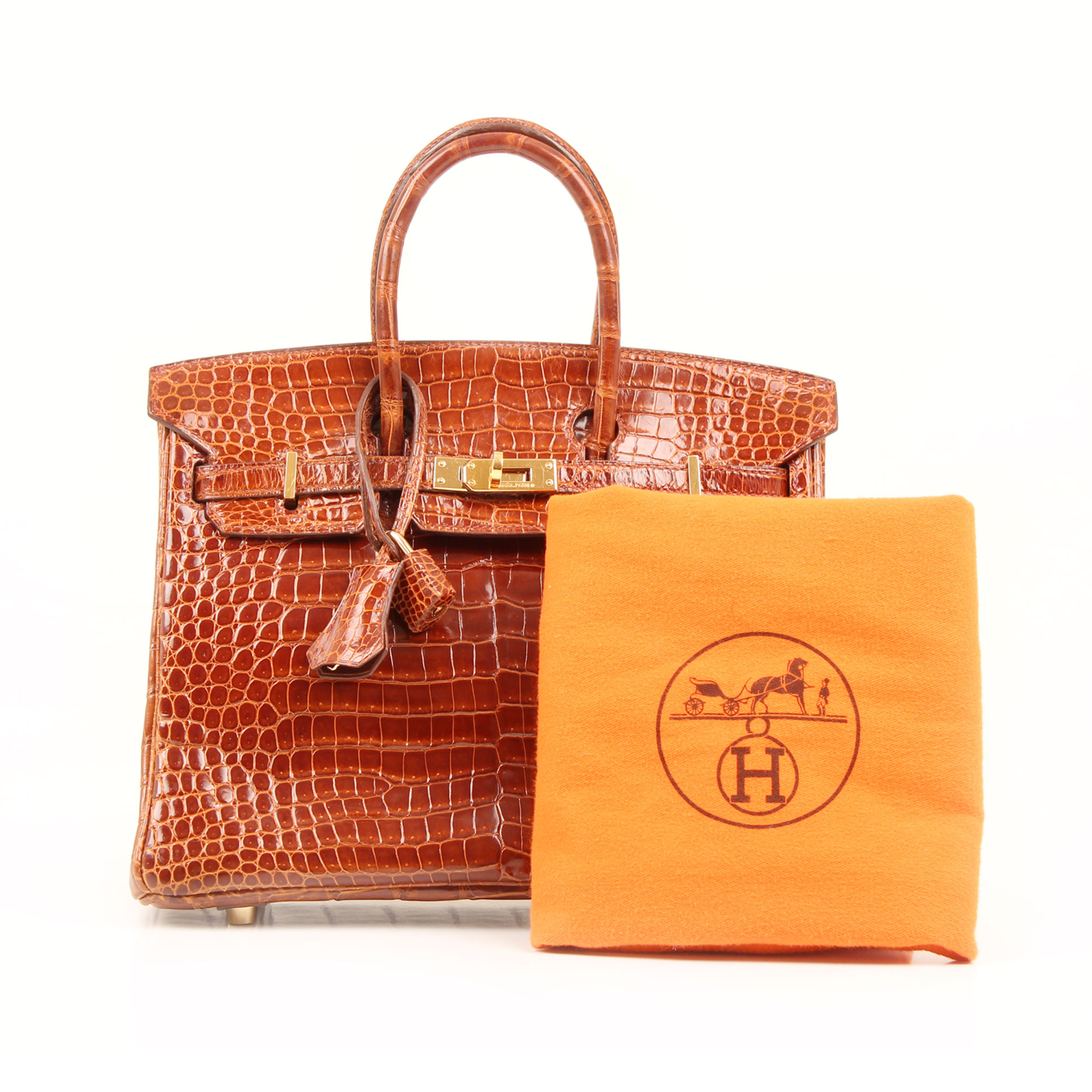 Dustbag image of hermes birkin 25 poroso soft whisky bag