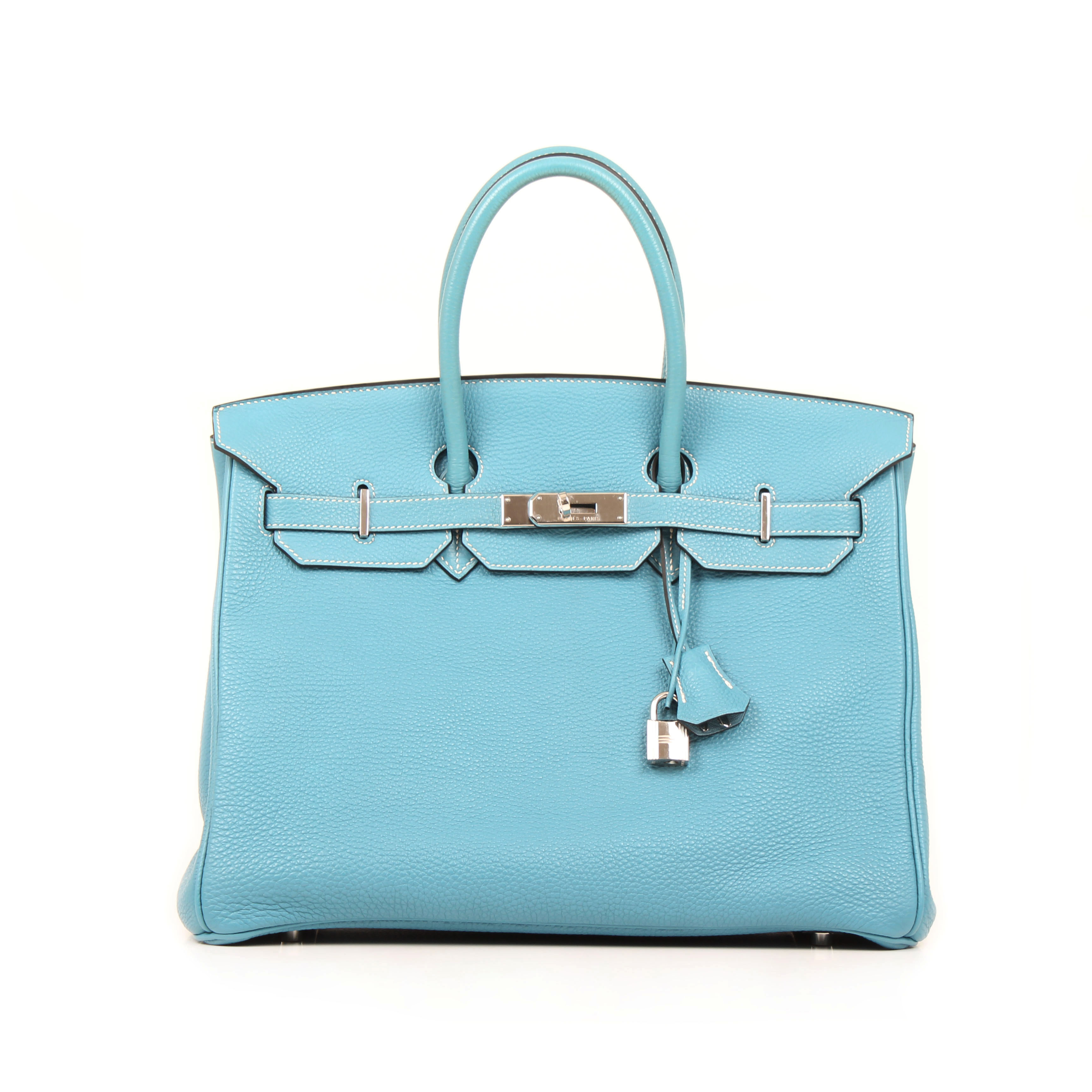 169ff32a17ab Hermès Birkin Bag 35 Togo Leather Blue Jean I CBL Bags