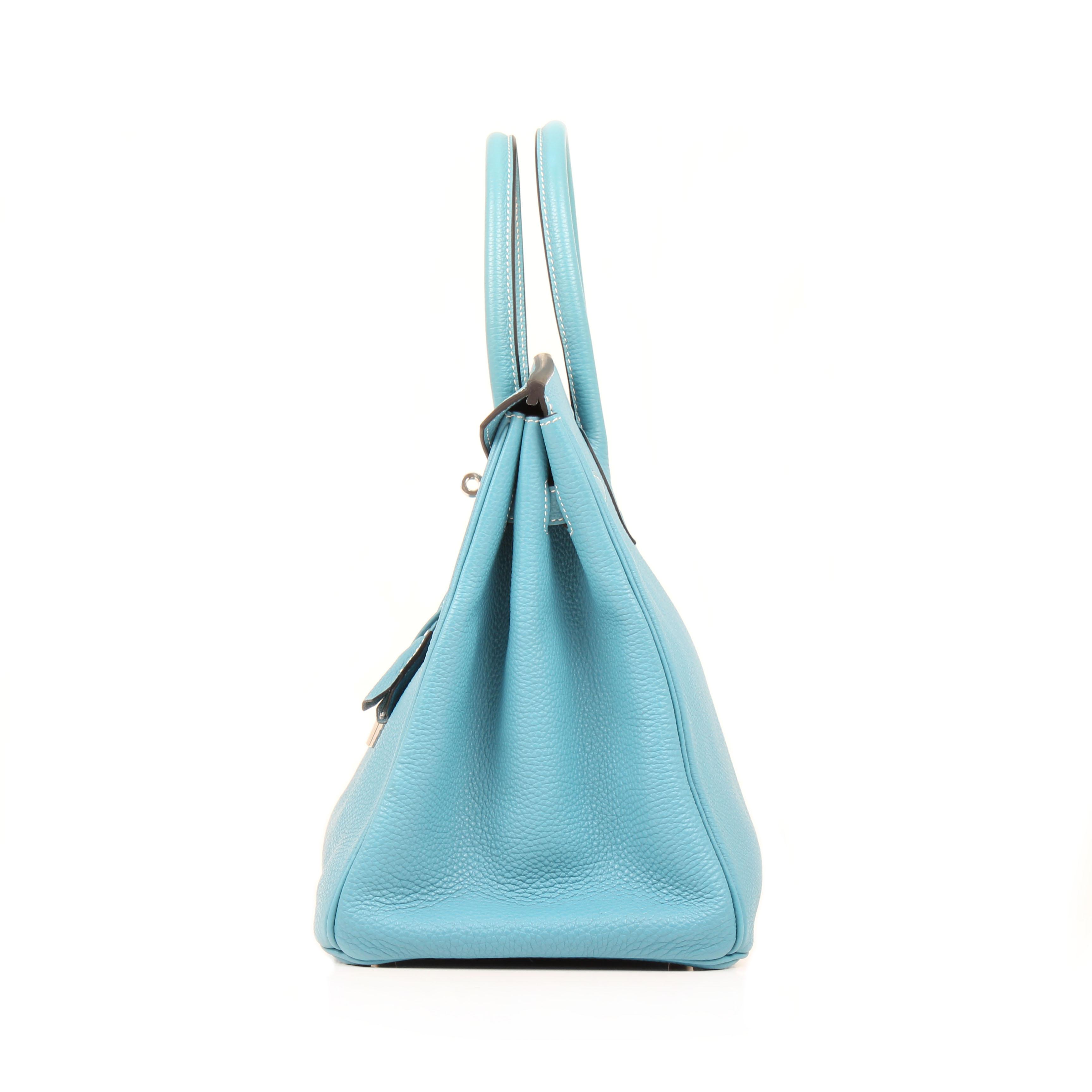 084c3ccb10 Hermès Birkin Bag 35 Togo Leather Blue Jean I CBL Bags
