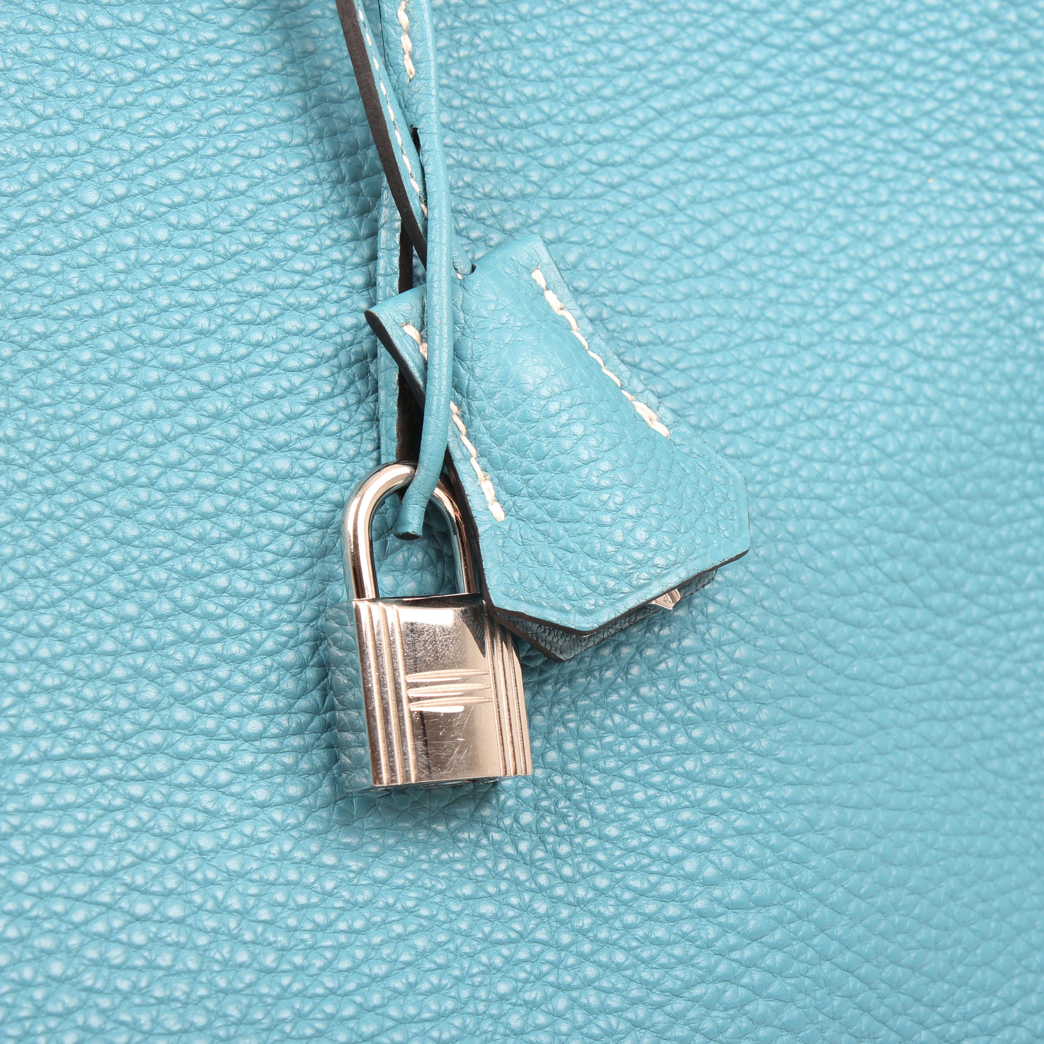 3f083327d6 Hermès Bag Birkin 35 Togo Azul Jean. Front image of hermes ...