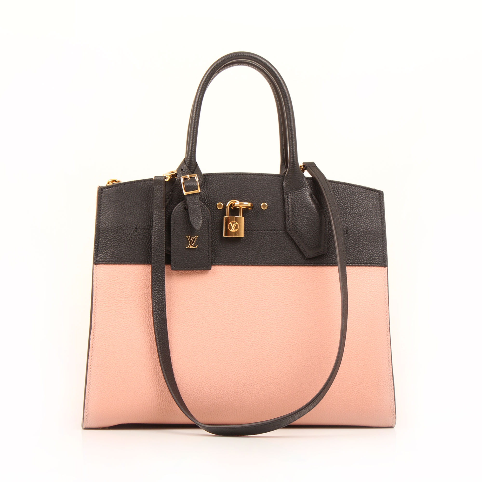 Imagen del bolso con bandolera del bolso louis vuitton city steamer mm magnolia