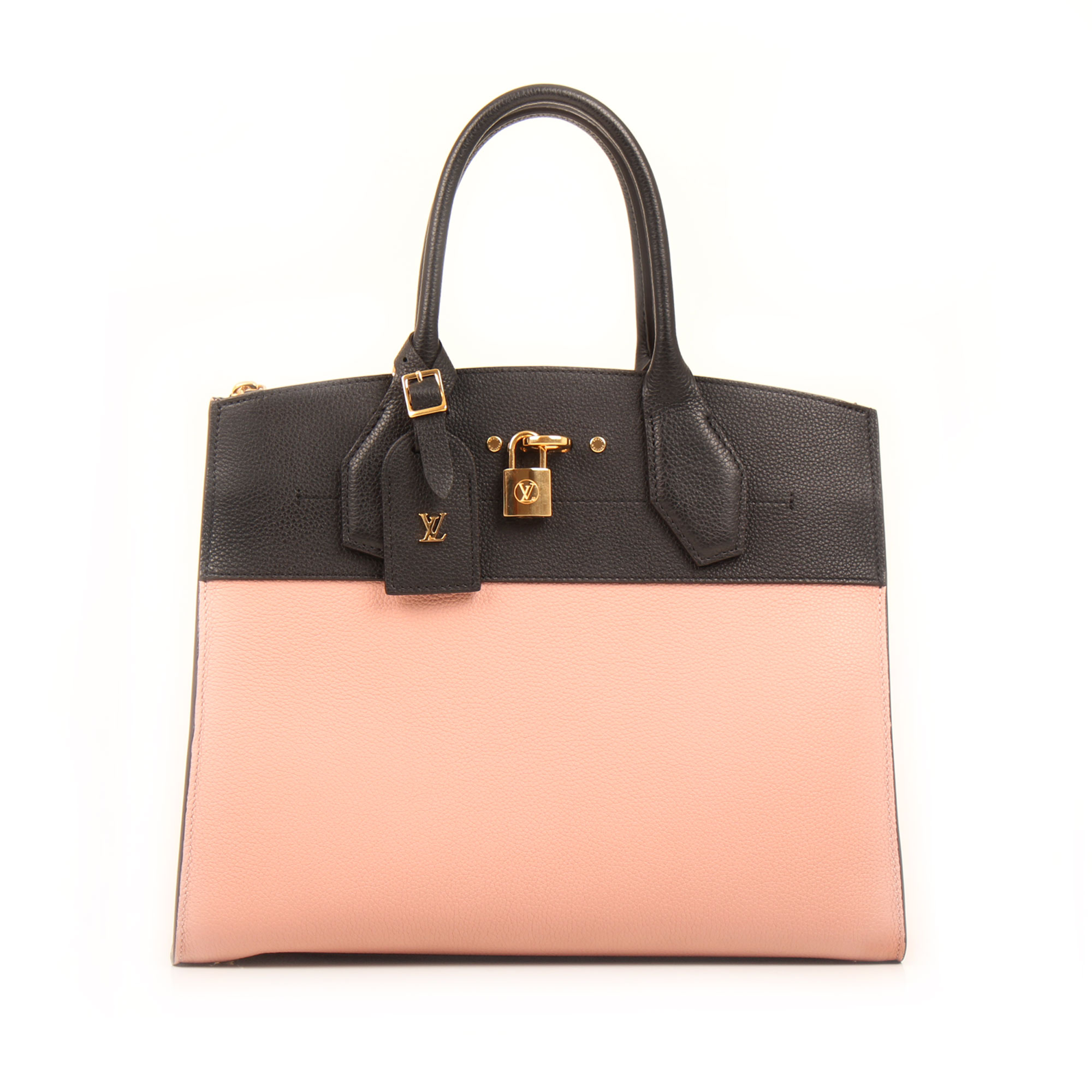 Imagen frontal del bolso louis vuitton city steamer mm magnolia