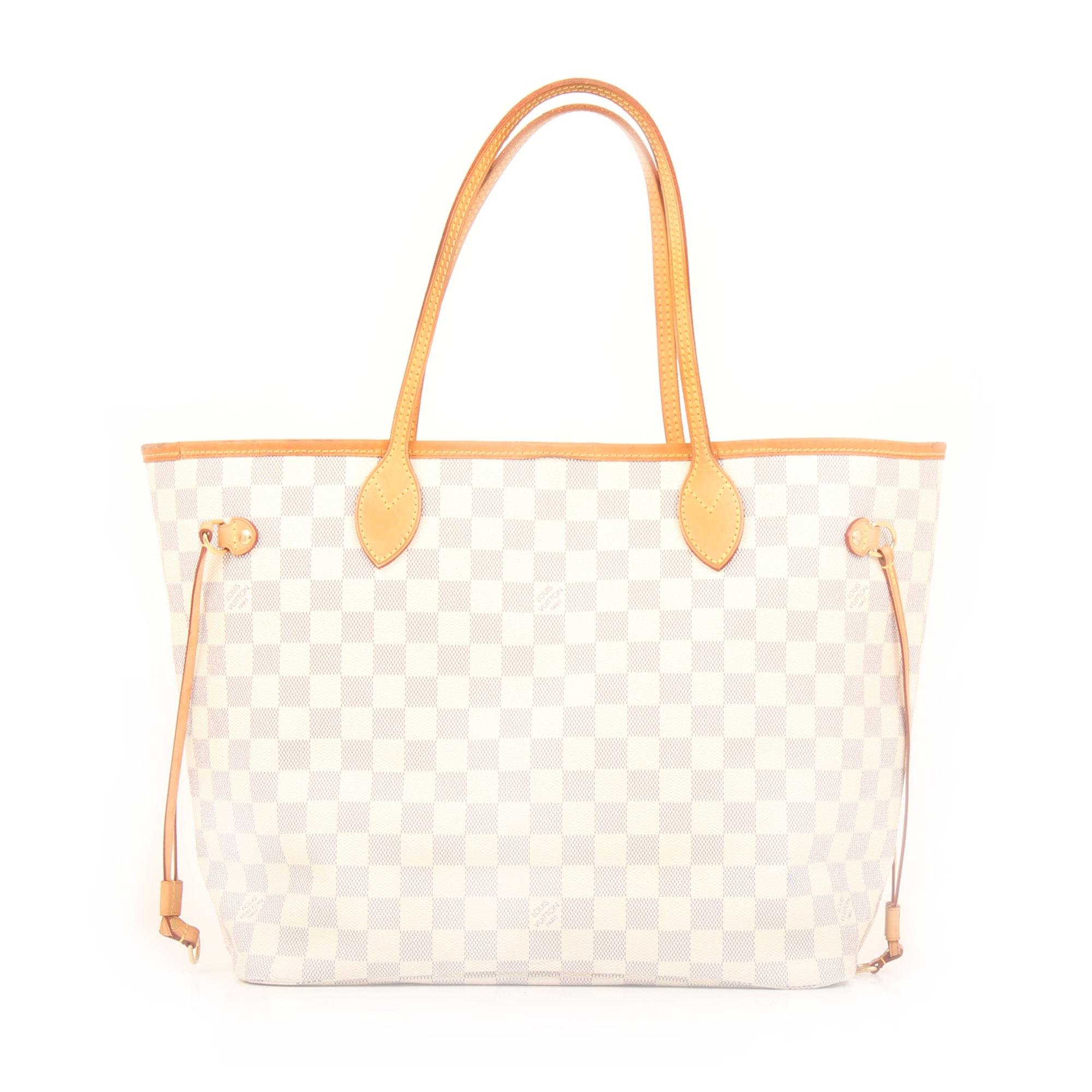 Imagen frontal del bolso louis vuitton neverfull mm damier azur