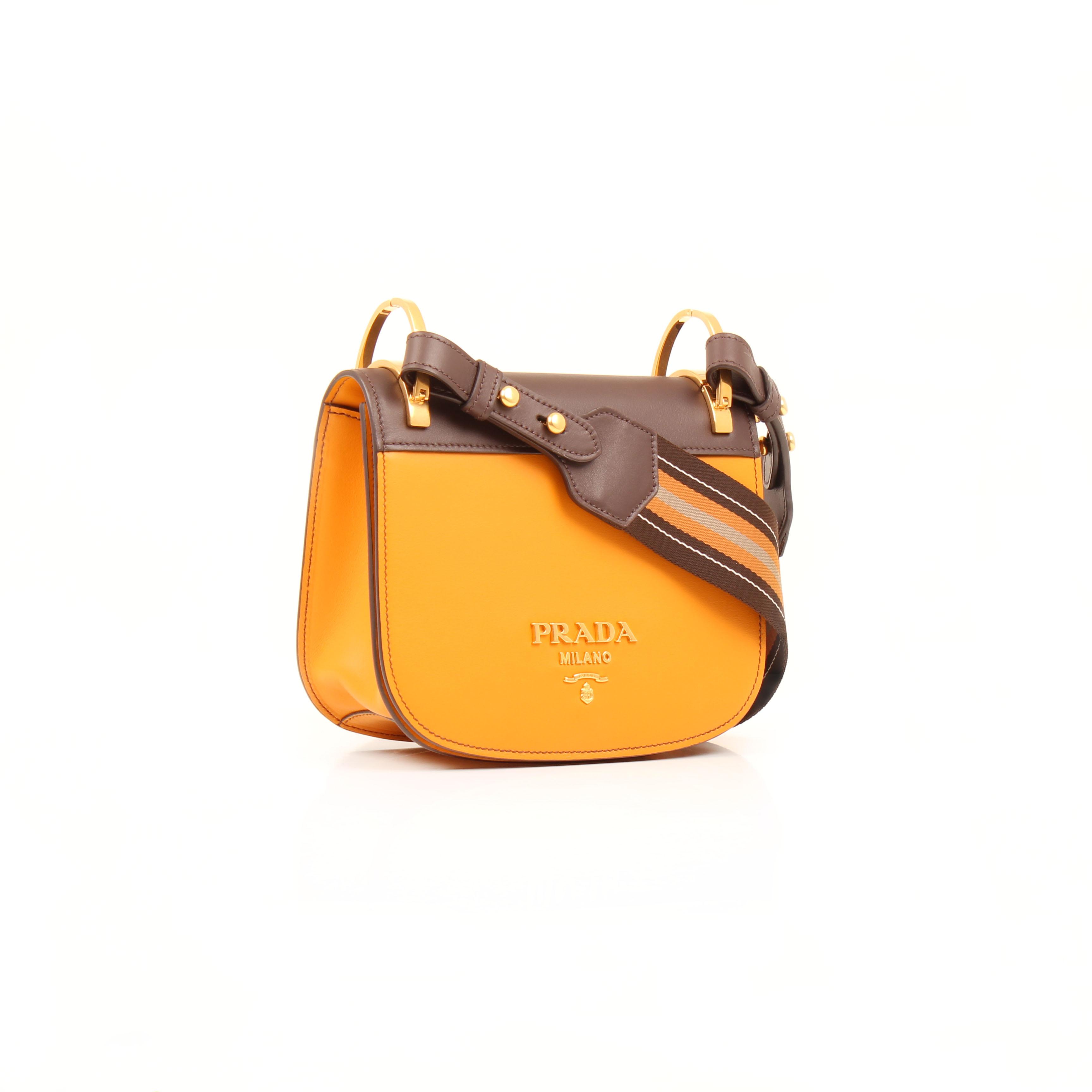276e6c8e9a72cd Prada Bag Pionnière Bicolor City Calf Leather Shoulder Bag I CBL Bags