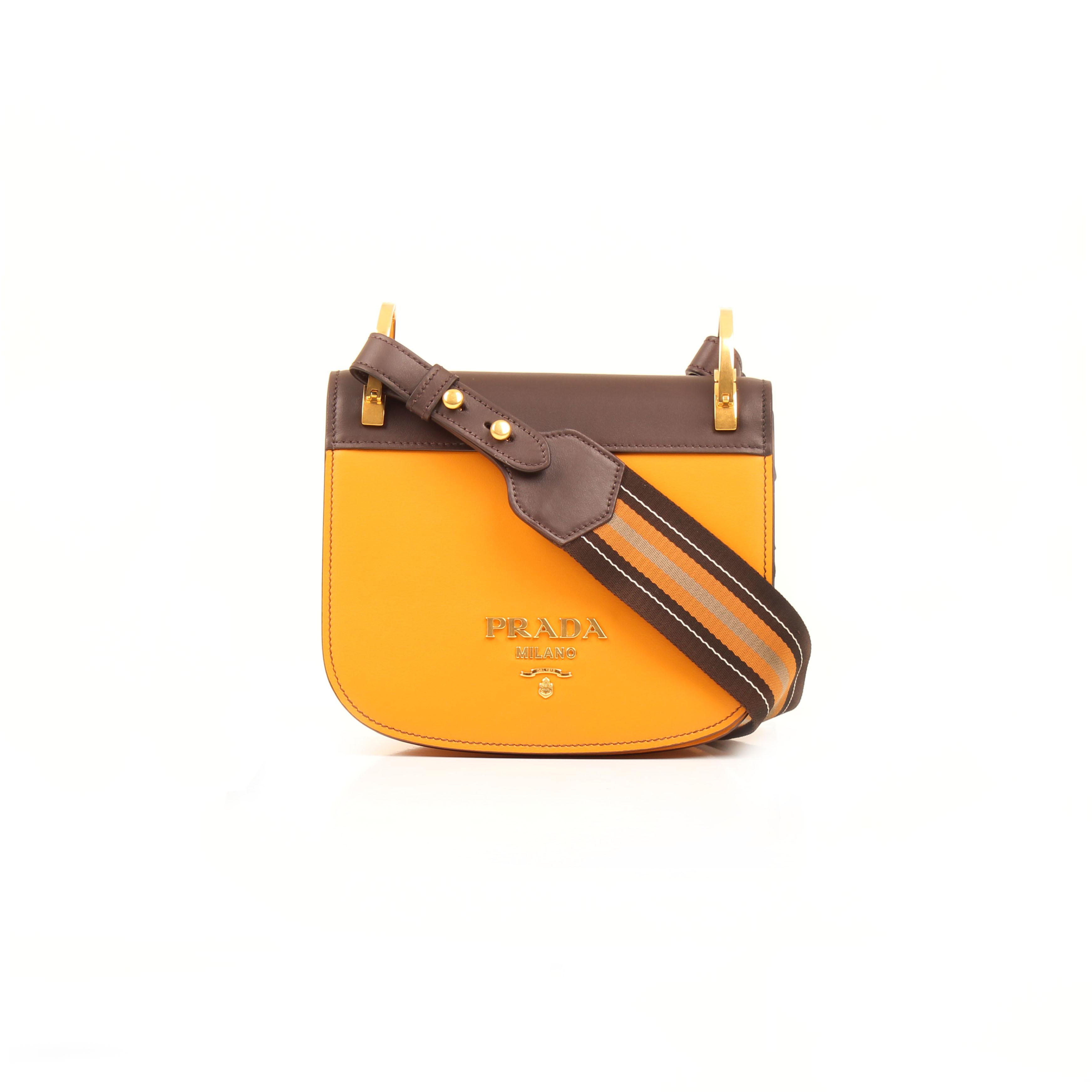 173c39e3aaadff Prada Bag Pionnière Bicolor City Calf Leather Shoulder Bag I CBL Bags