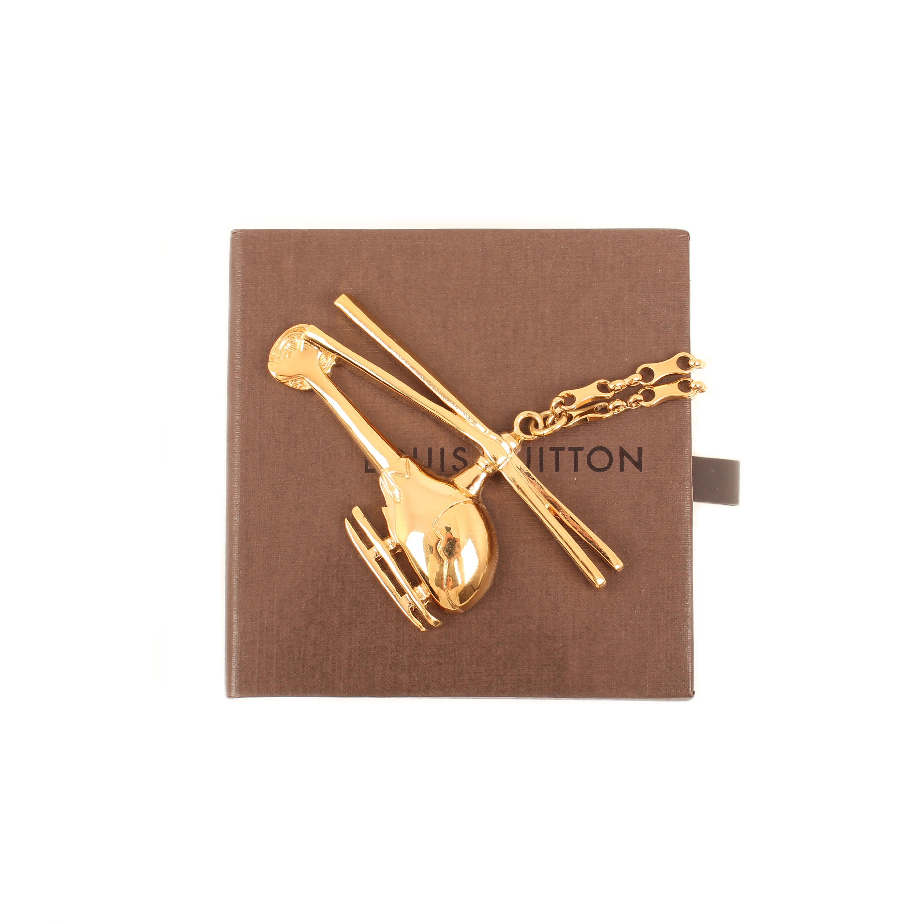 Louis Vuitton Helicopter Statement Pendant Necklace  8d6d6e2f6ab5f