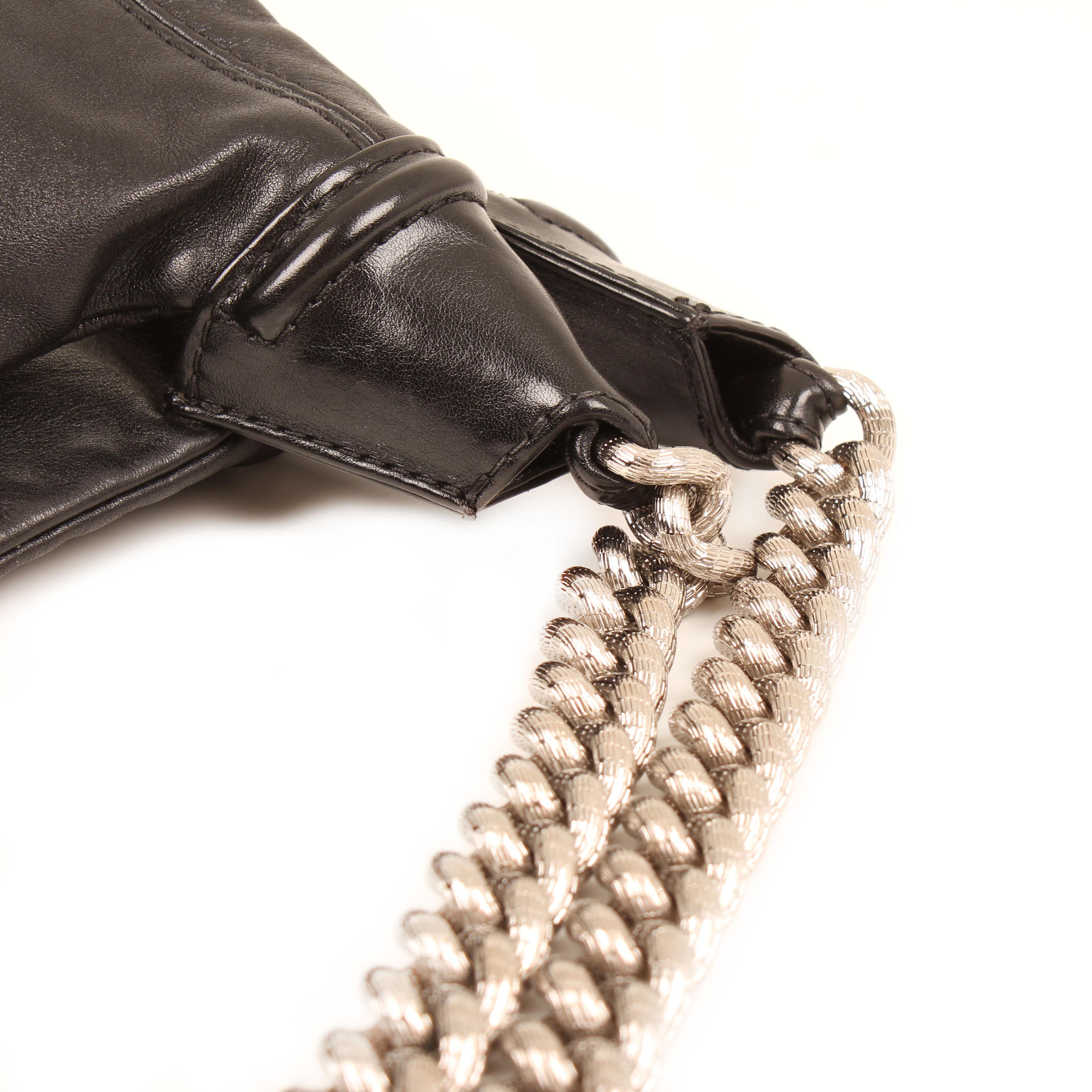 bolso chanel rodeo drive hobo piel becerro negro cadena