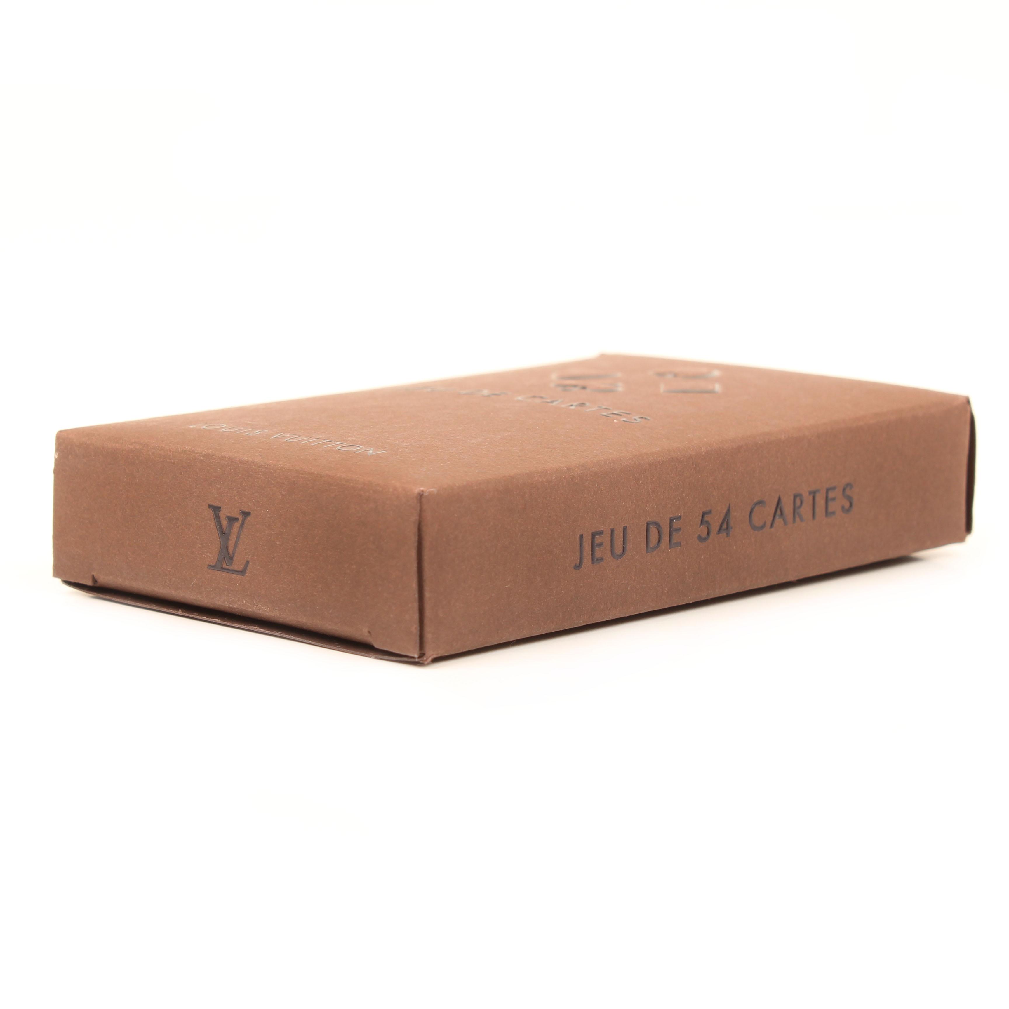 juego de cartas louis vuitton baraja francesa tres piezas caja lateral
