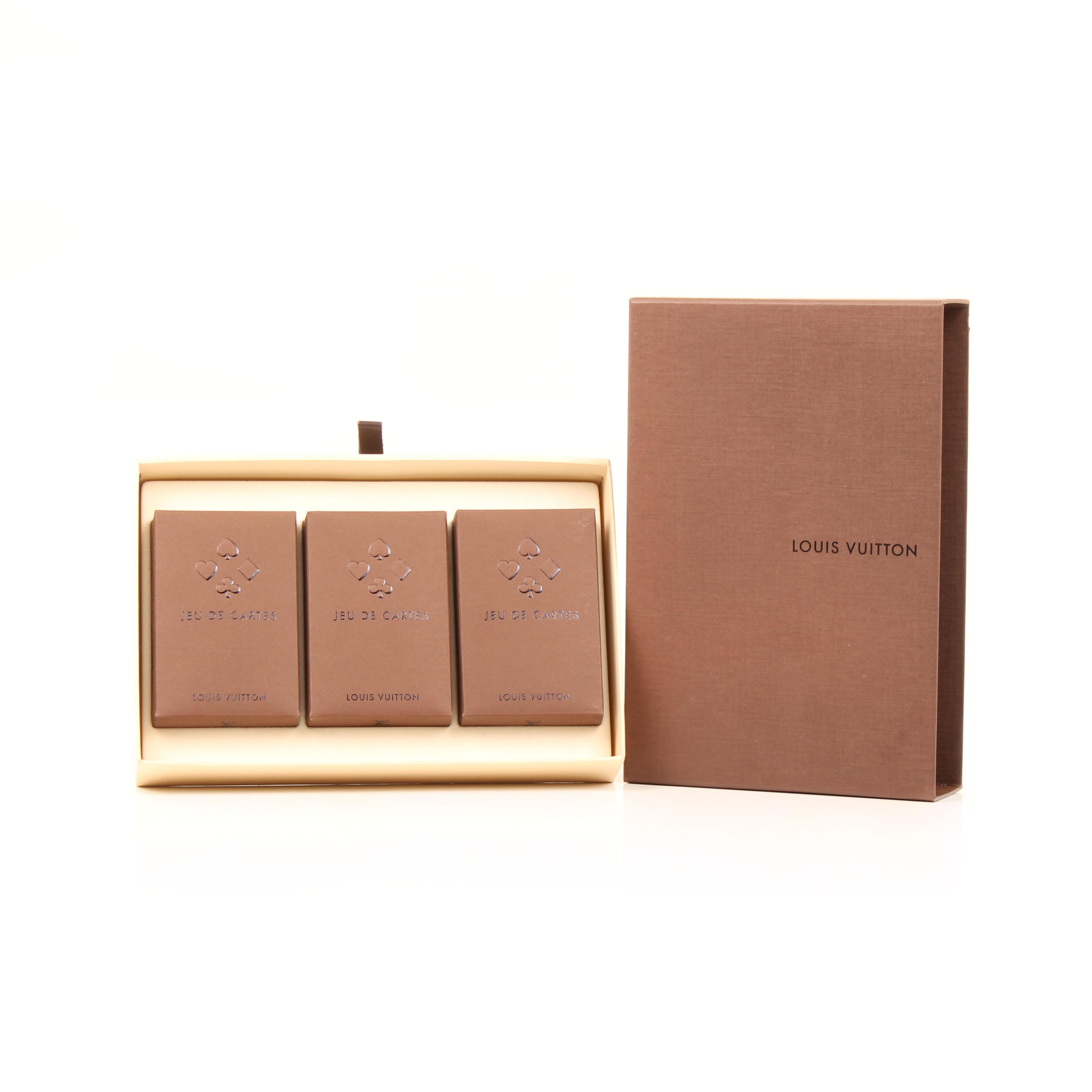 juego de cartas louis vuitton baraja francesa tres piezas general caja