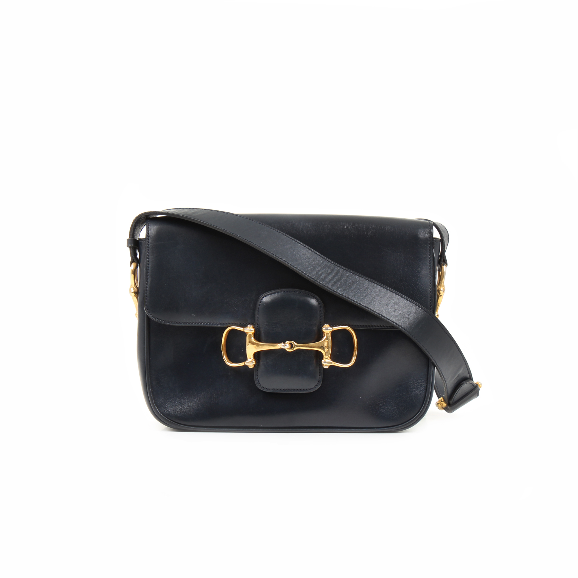 Front image of celine box vintage shoulder bag