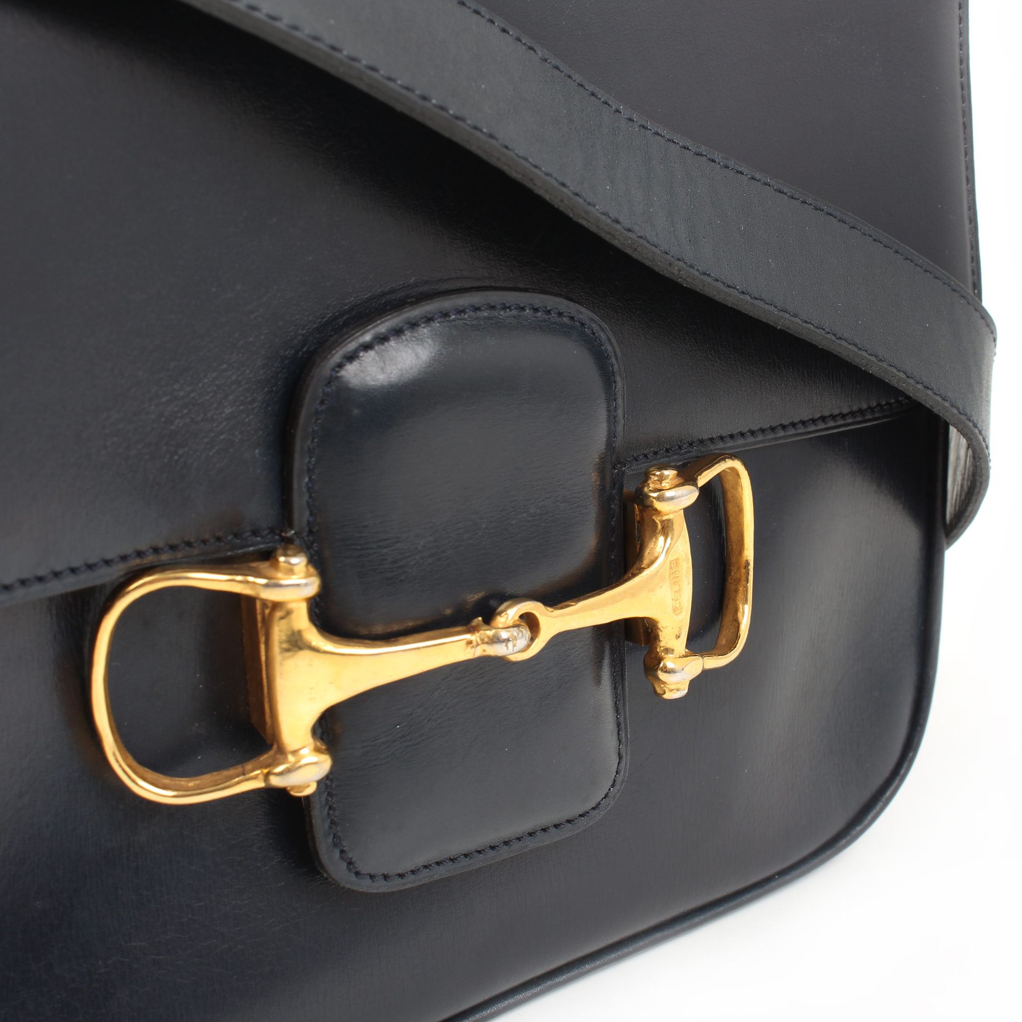 Hardware detail from celine vintage shoulder bag