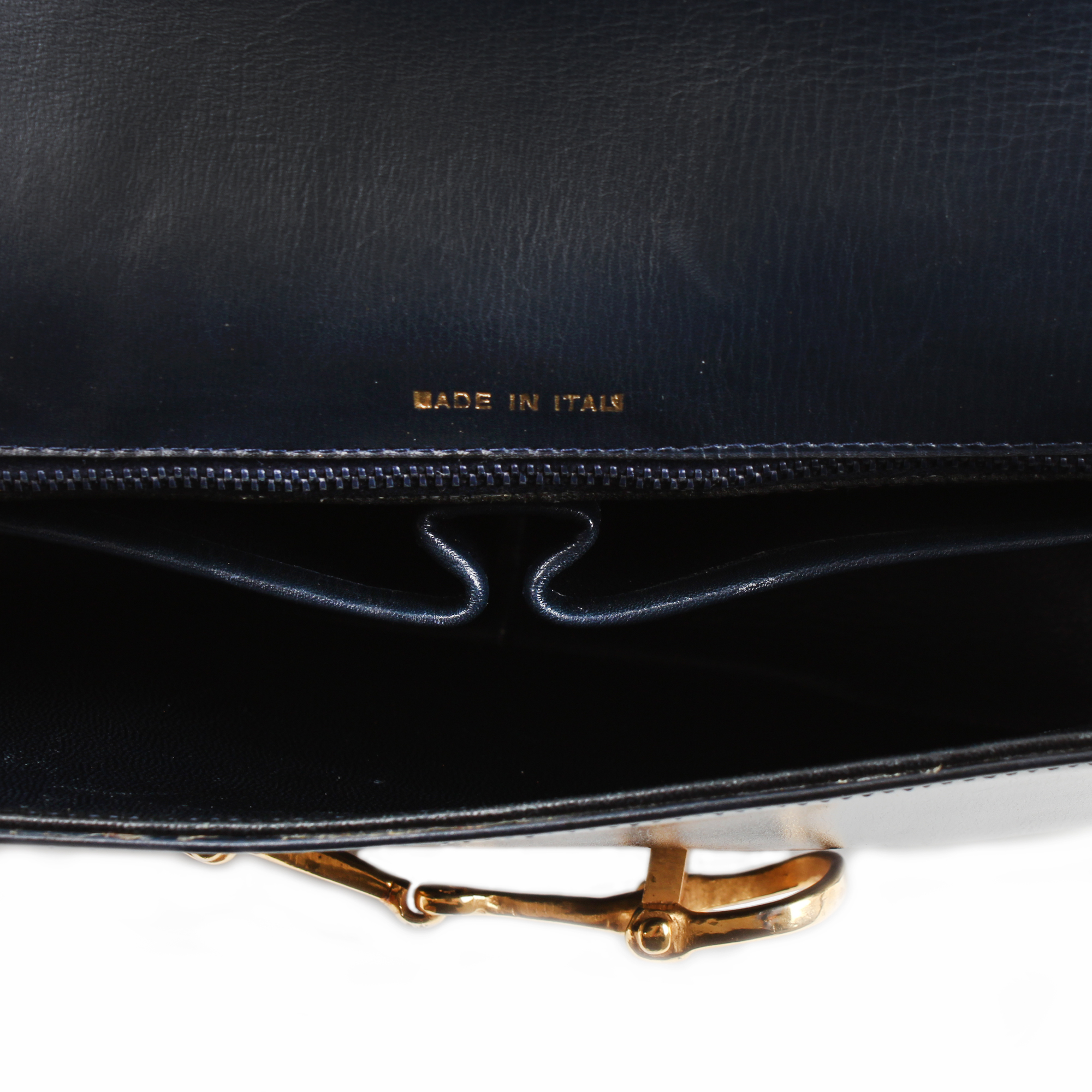 Interior image from celine vintage box shoulder bag
