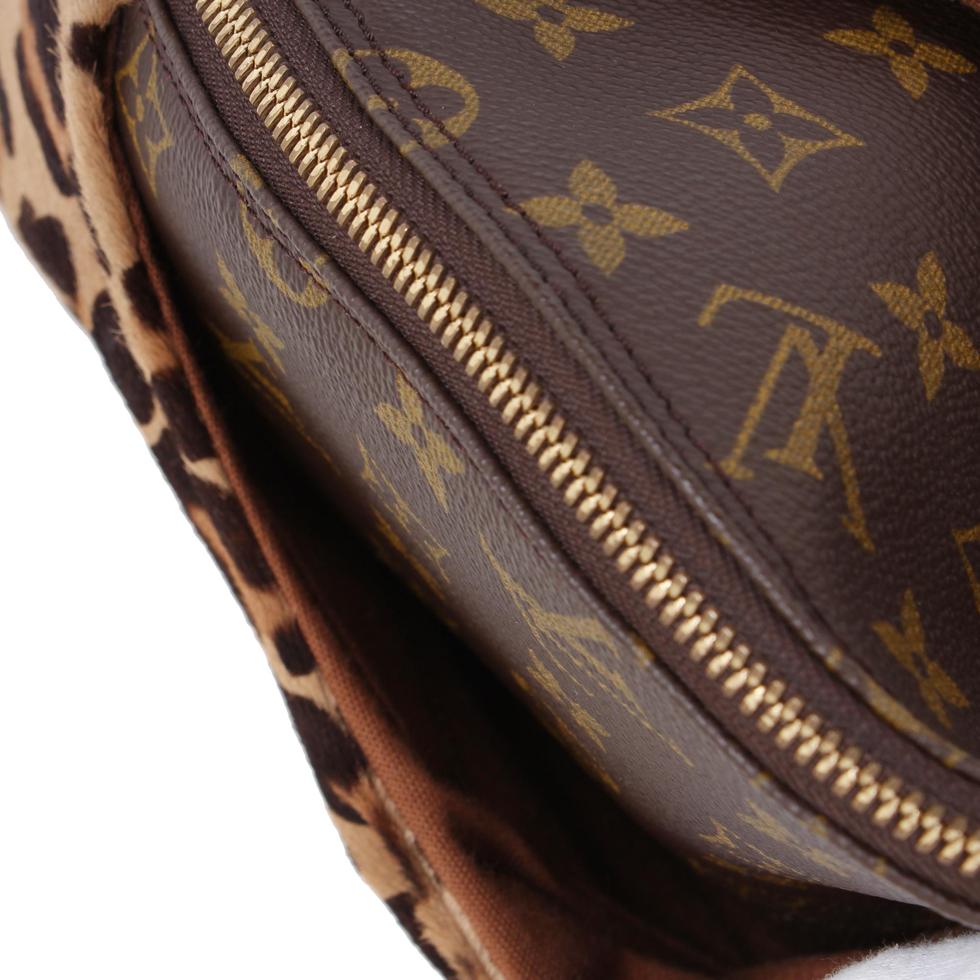 Imagen del bolsillo externo del bolso louis vuitton alma azzedine alaia