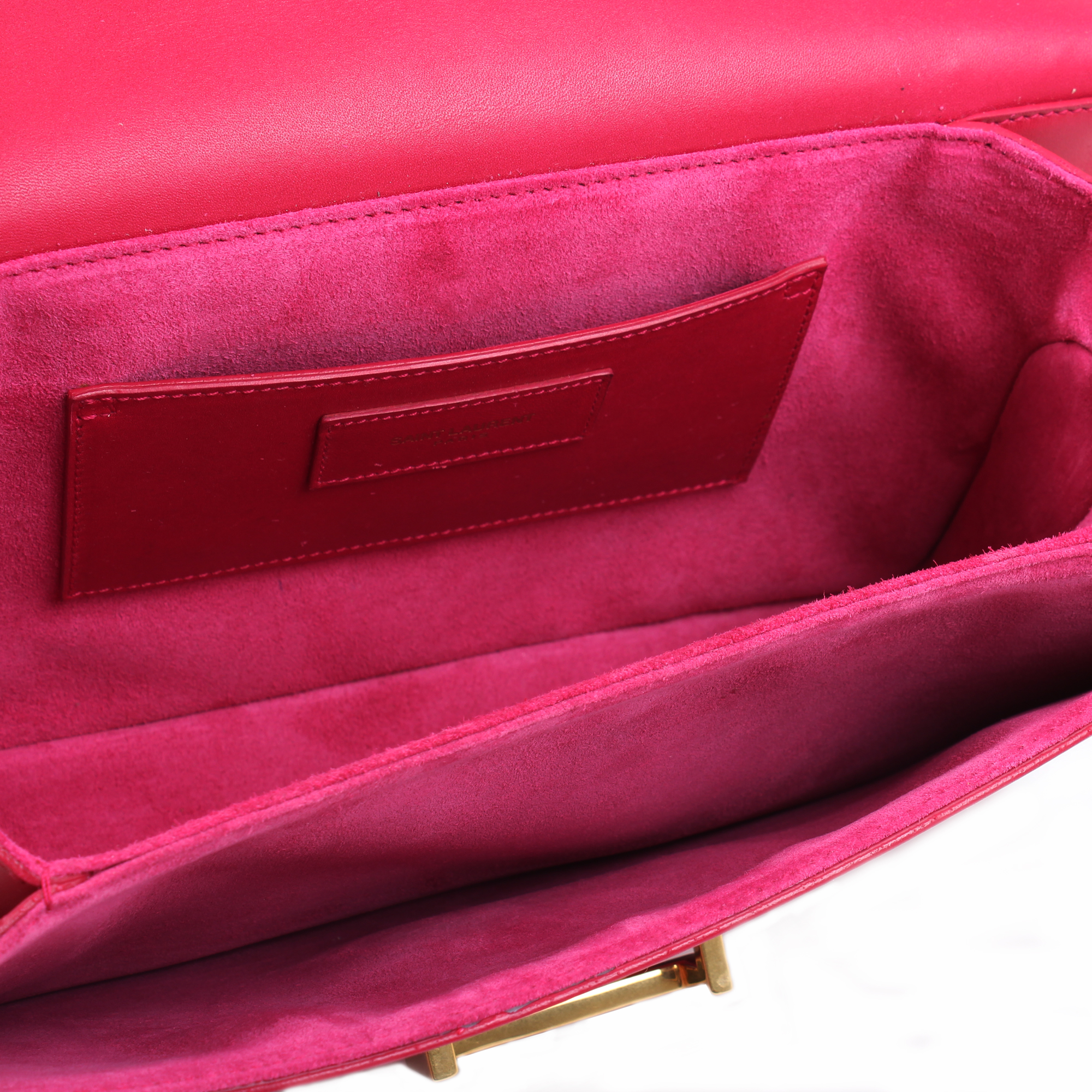 Interior image of Yves Saint Laurent Lulu shoulder bag