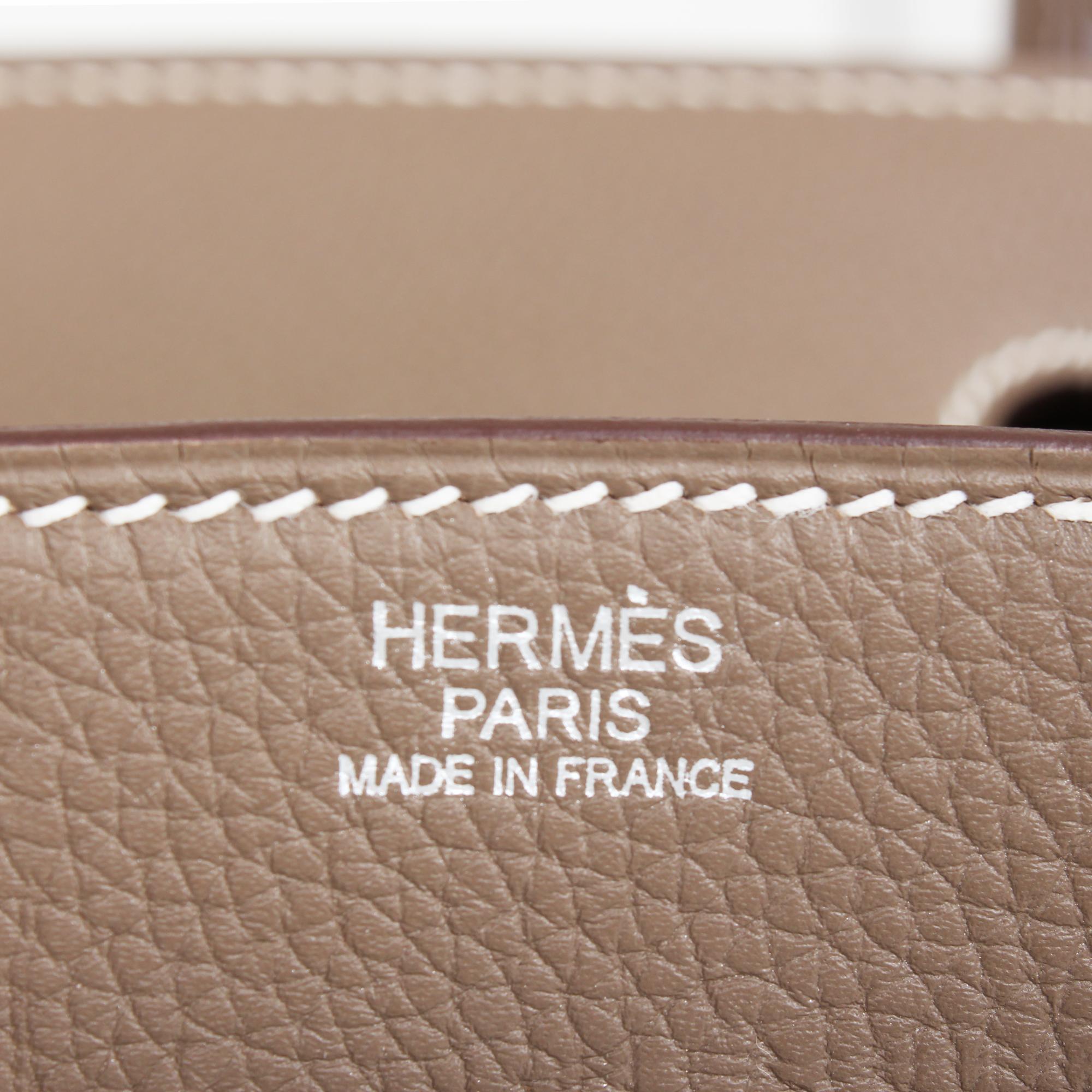 Image of the brand of hermes birkin bag taupe togo