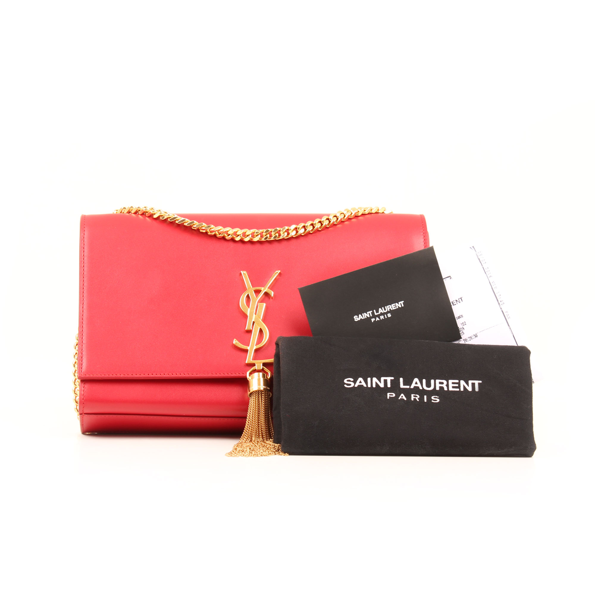 Extras image of ysl kate medium bag red calfskin leather