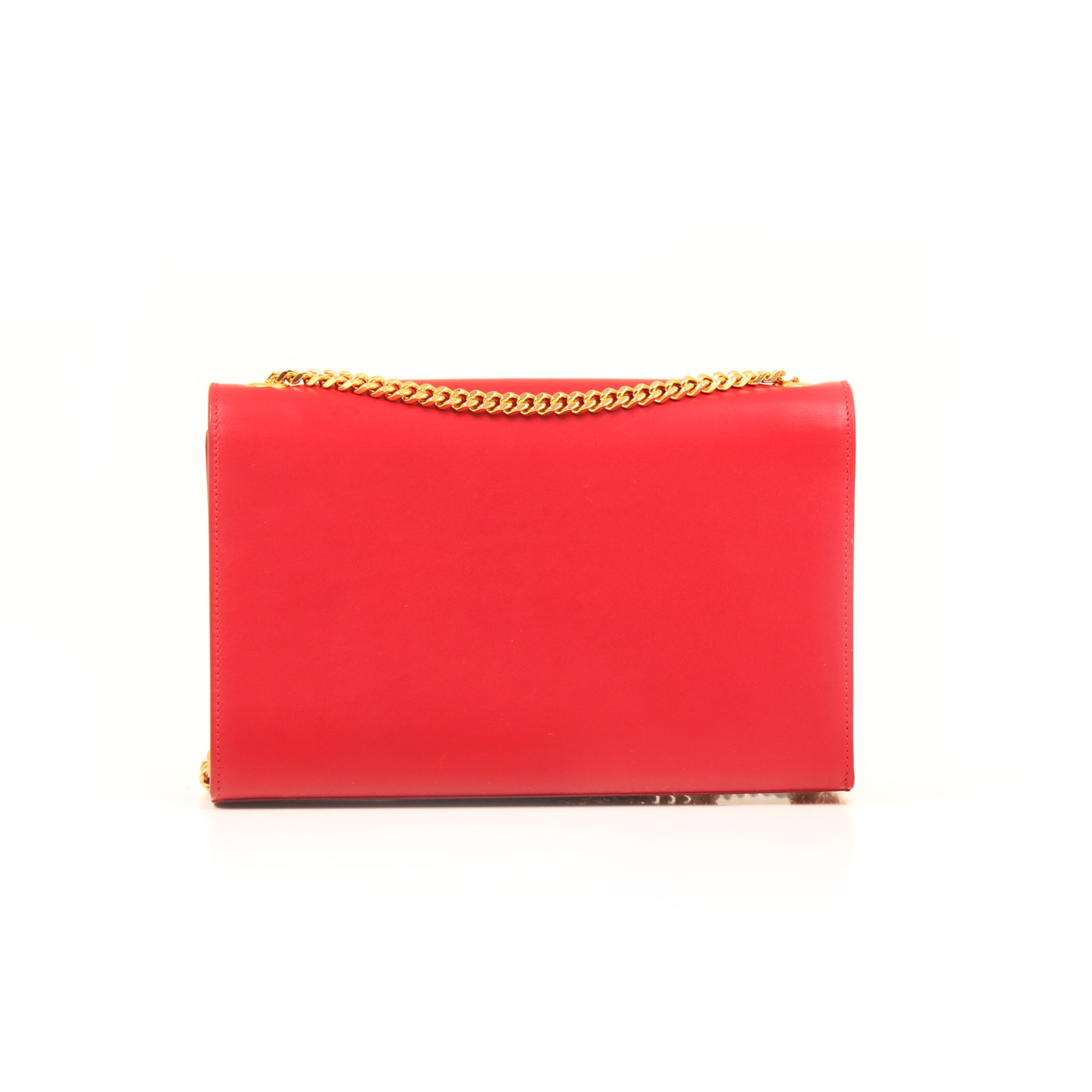 Back image of ysl kate medium bag red calfskin leather back