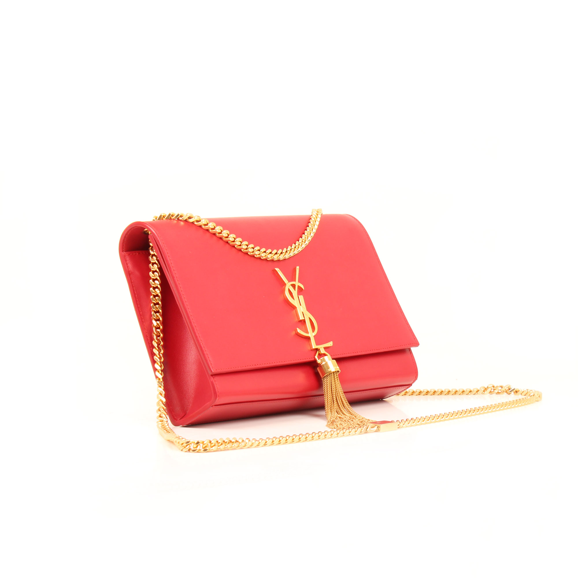 General image of ysl kate medium bag red calfskin leather