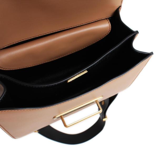 Bolso Prada Cahier Piel color negro y caramelo