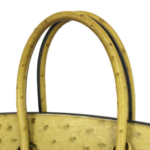 imagen de detalle de asas de bolso-hermes-birkin-35-piel-avestruz-anis