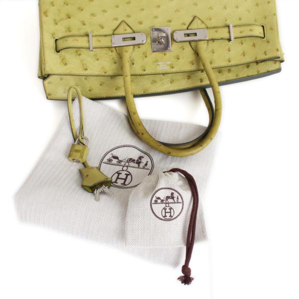 imagen de extras de bolso-hermes-birkin-35-piel-avestruz-anis