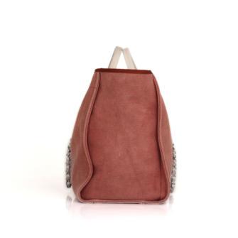 628e9f4e9 Chanel Deauville Pink and White GM Tote Bag | CBL Bags