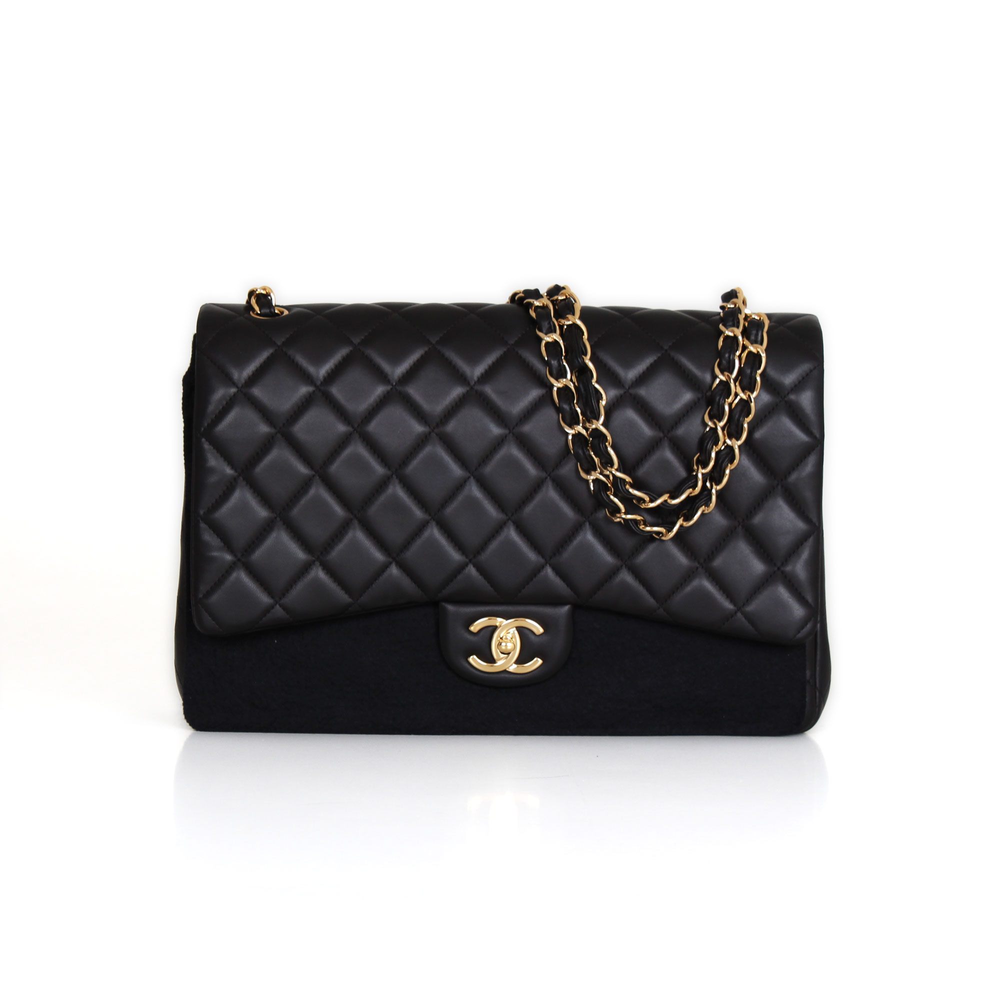 fcc589d2e02d Chanel Timeless Maxi Double Flap Black Lambskin handbag | CBL Bags